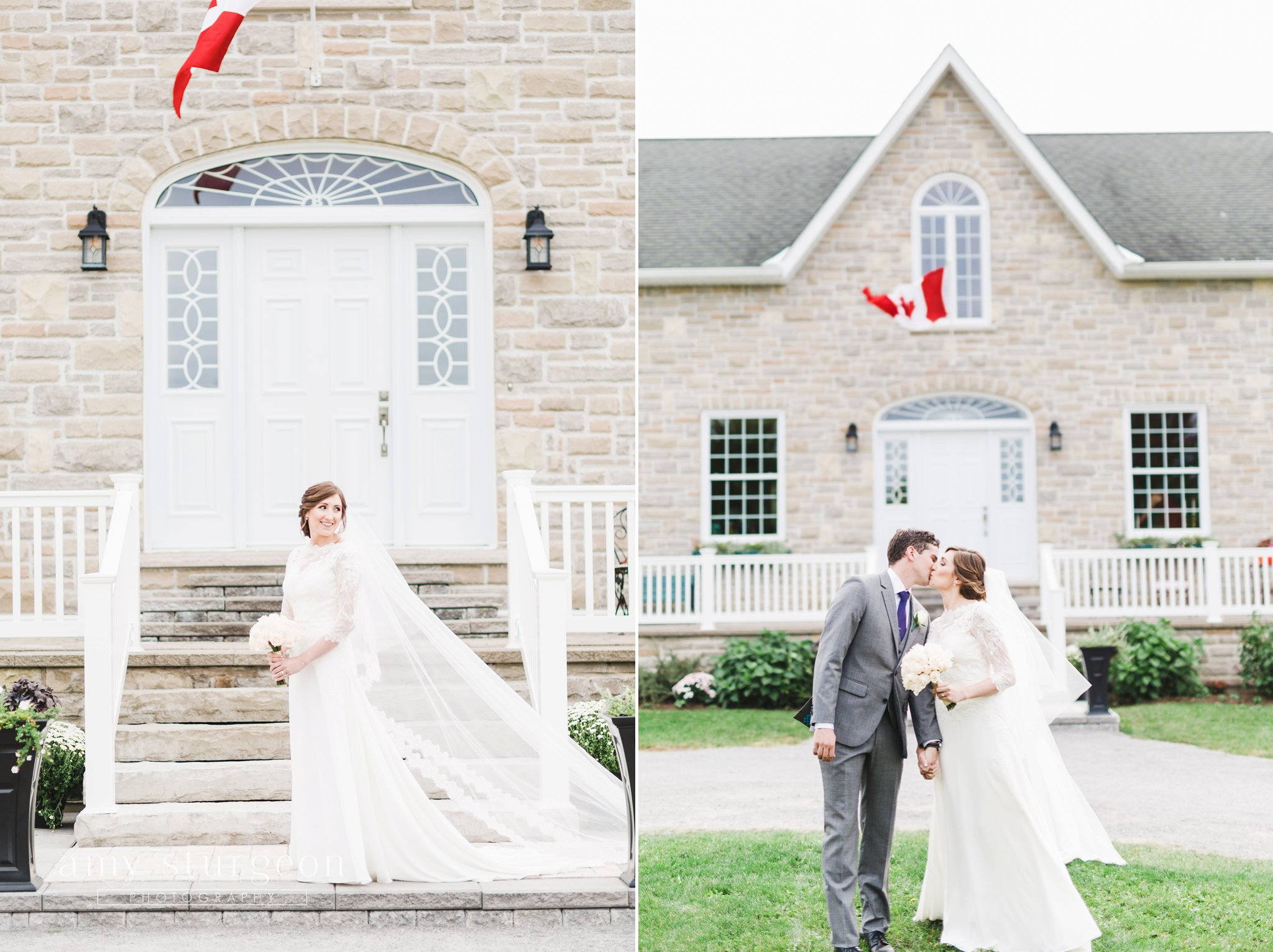 Cathedral veil at the alpaca farm wedding