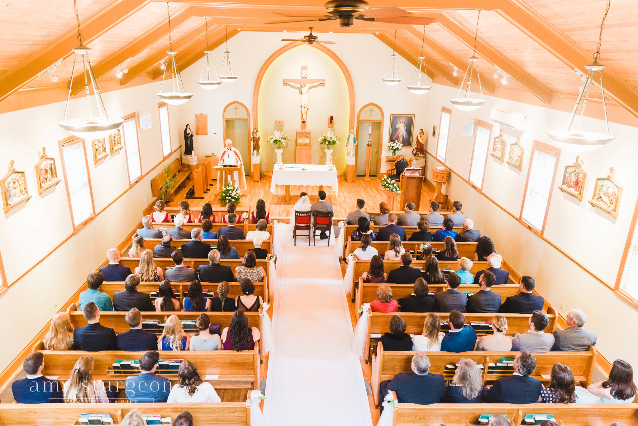 The ceremony was at st. Margaret Mary's Parish in ottawa followed by a reception at the alpaca farm wedding
