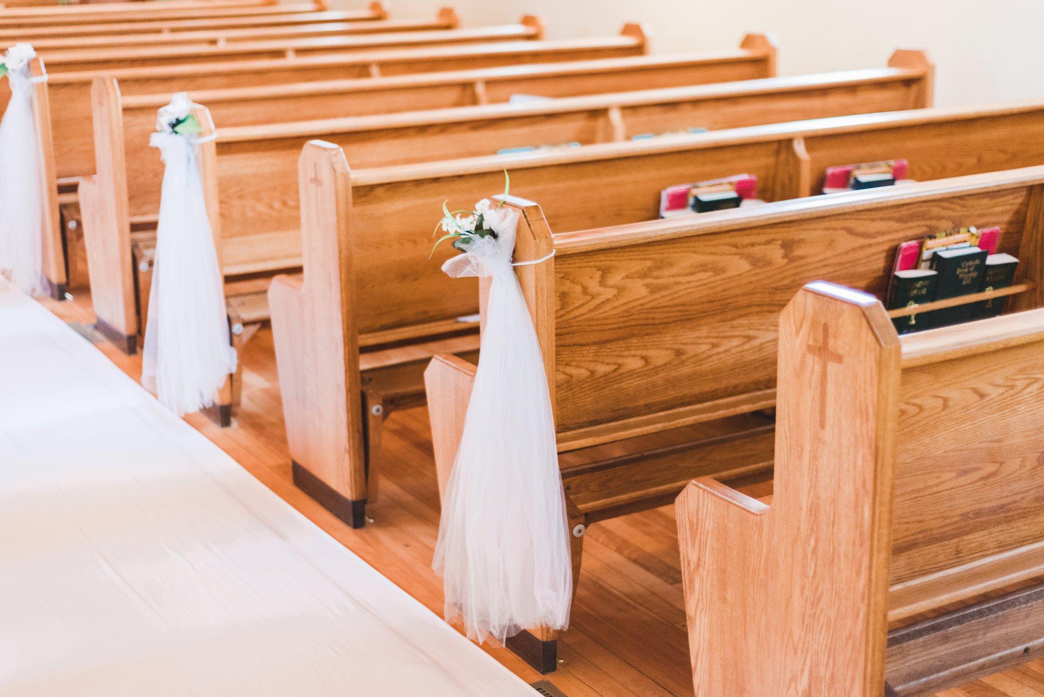 Catholic ceremony at the alpaca farm wedding