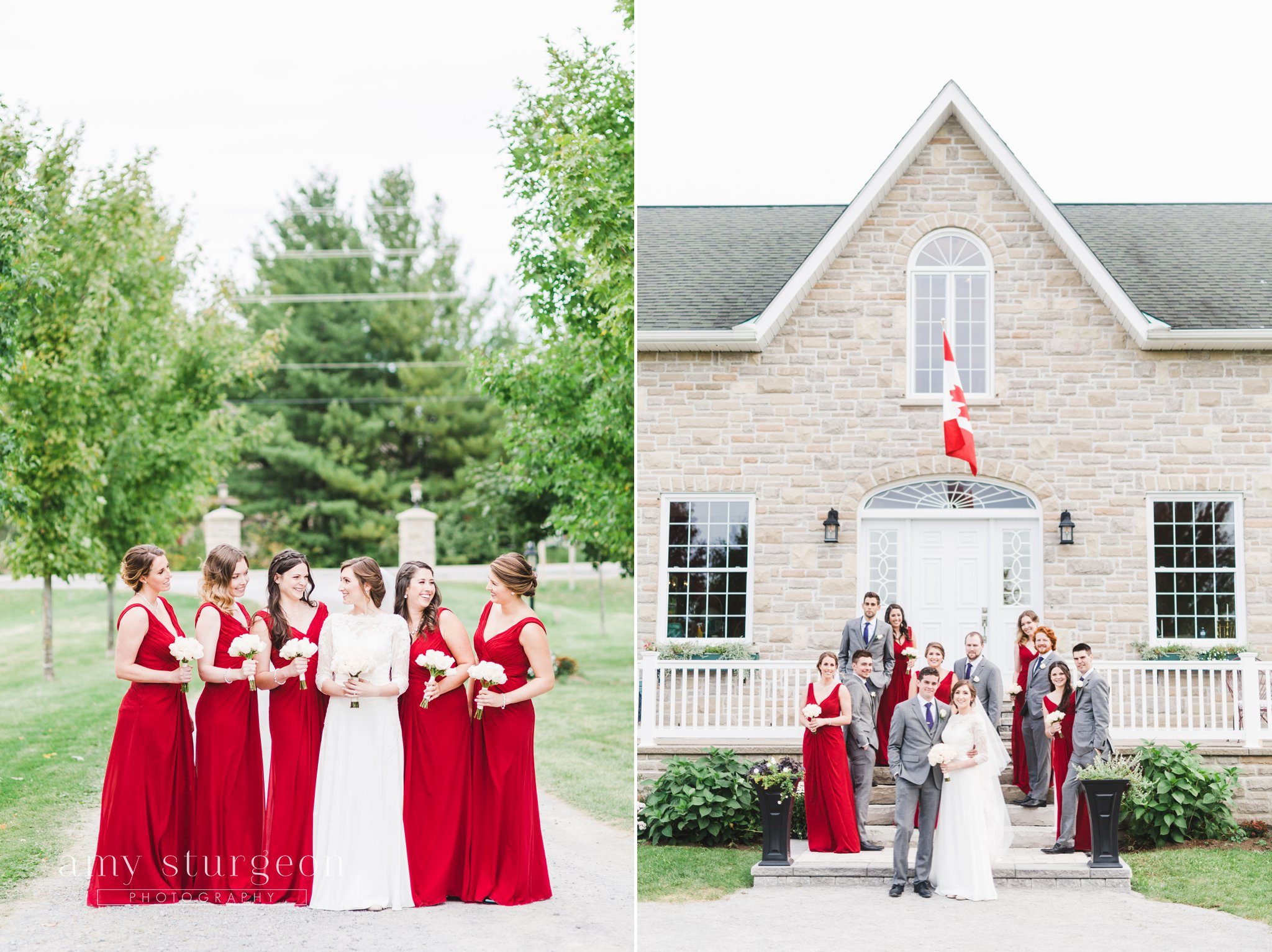 This heritage home was a beautiful site for a wedding at the alpaca farm wedding