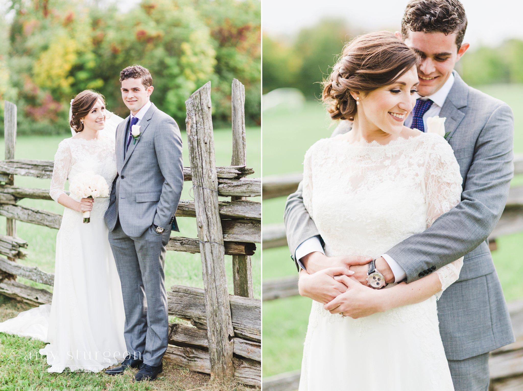 A light grey suit for the groom at the alpaca farm wedding