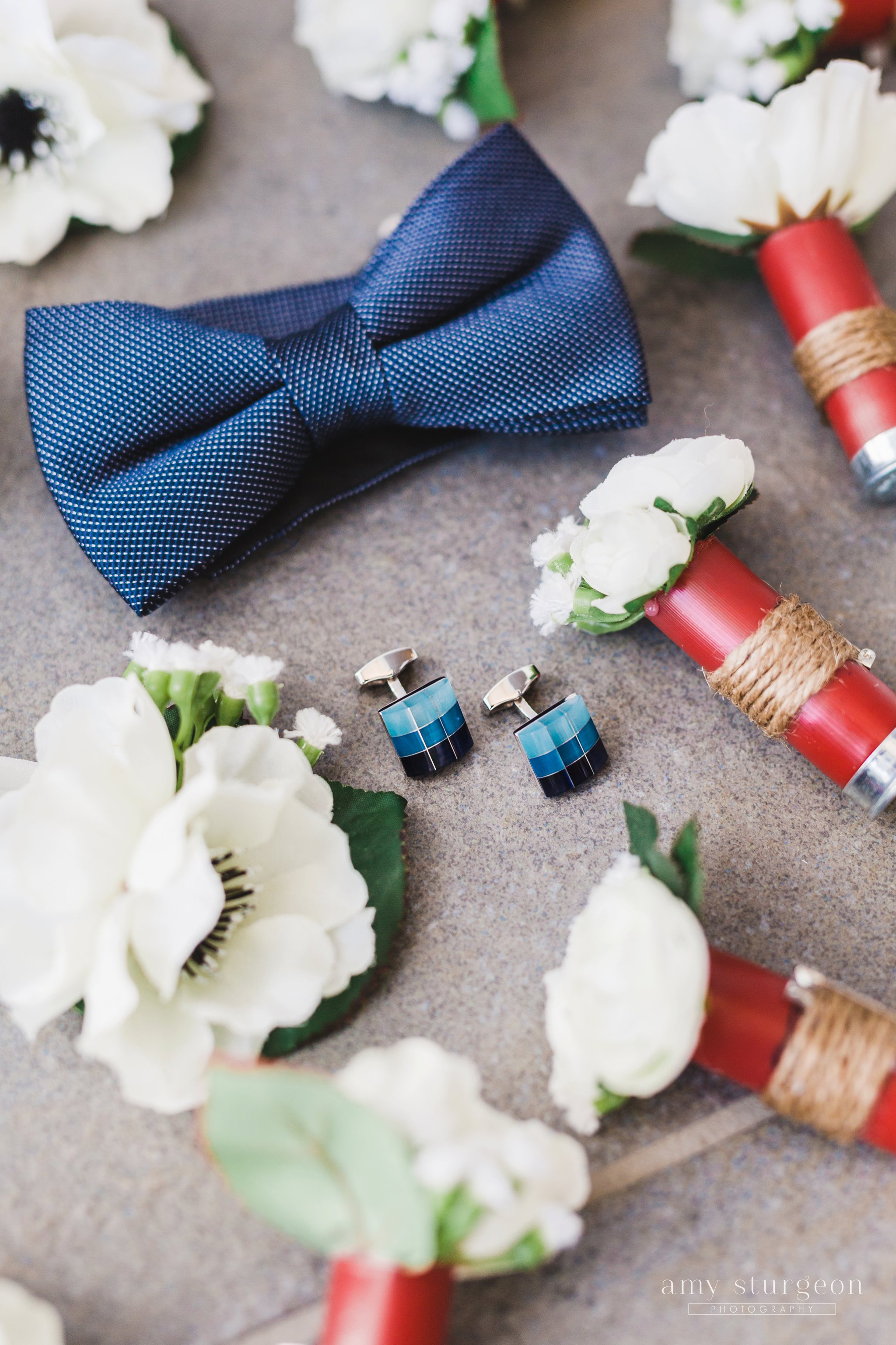 DIY boutonnieres from bullet casings at the Canadian Aviation Museum Wedding