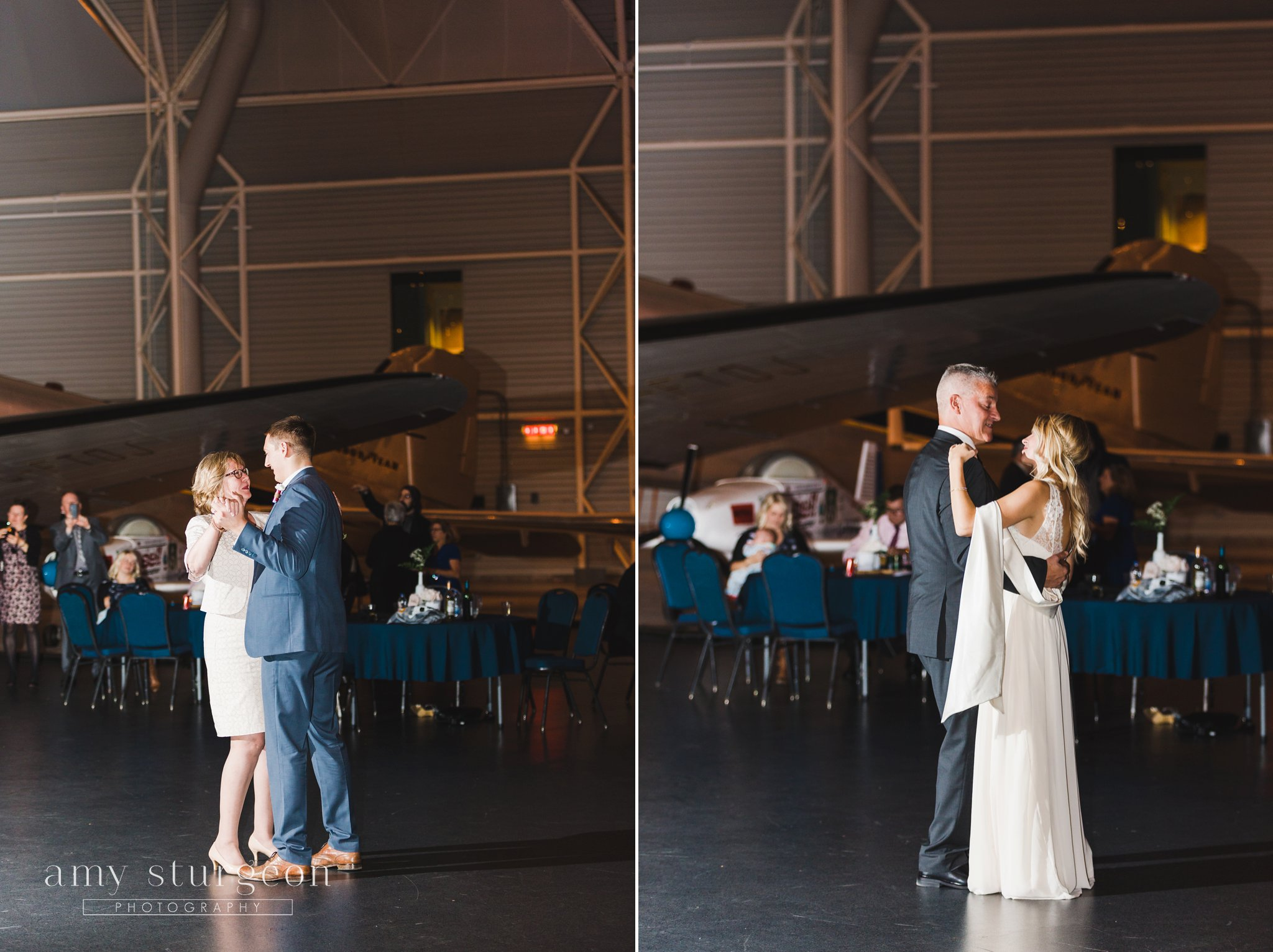 Canadian aviation and space musuem wedding
