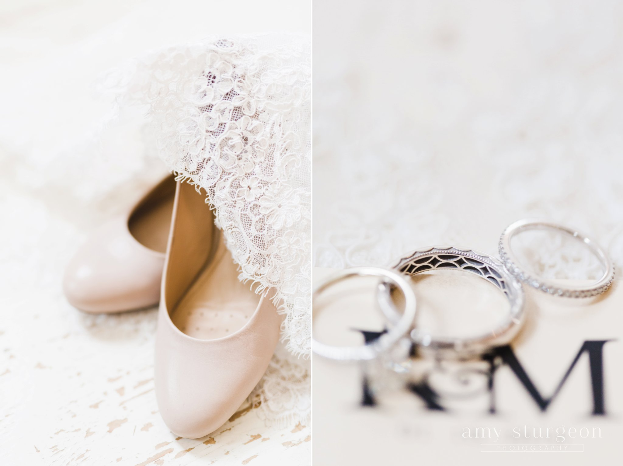 The tacori wedding bands had the most intricate detail inside the bands at the alpaca farm wedding in ottawa