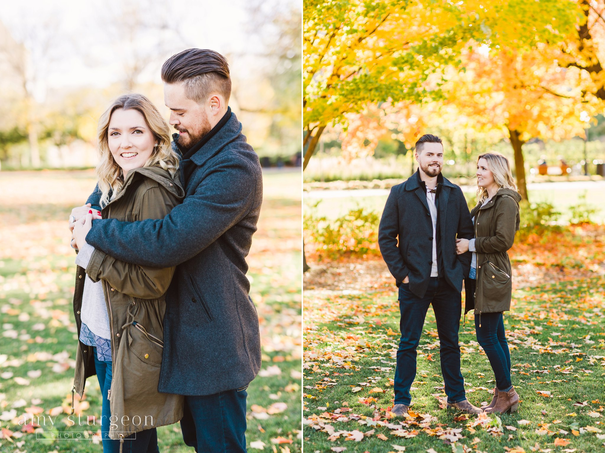 fall byward market engagement session in Downtown ottawa