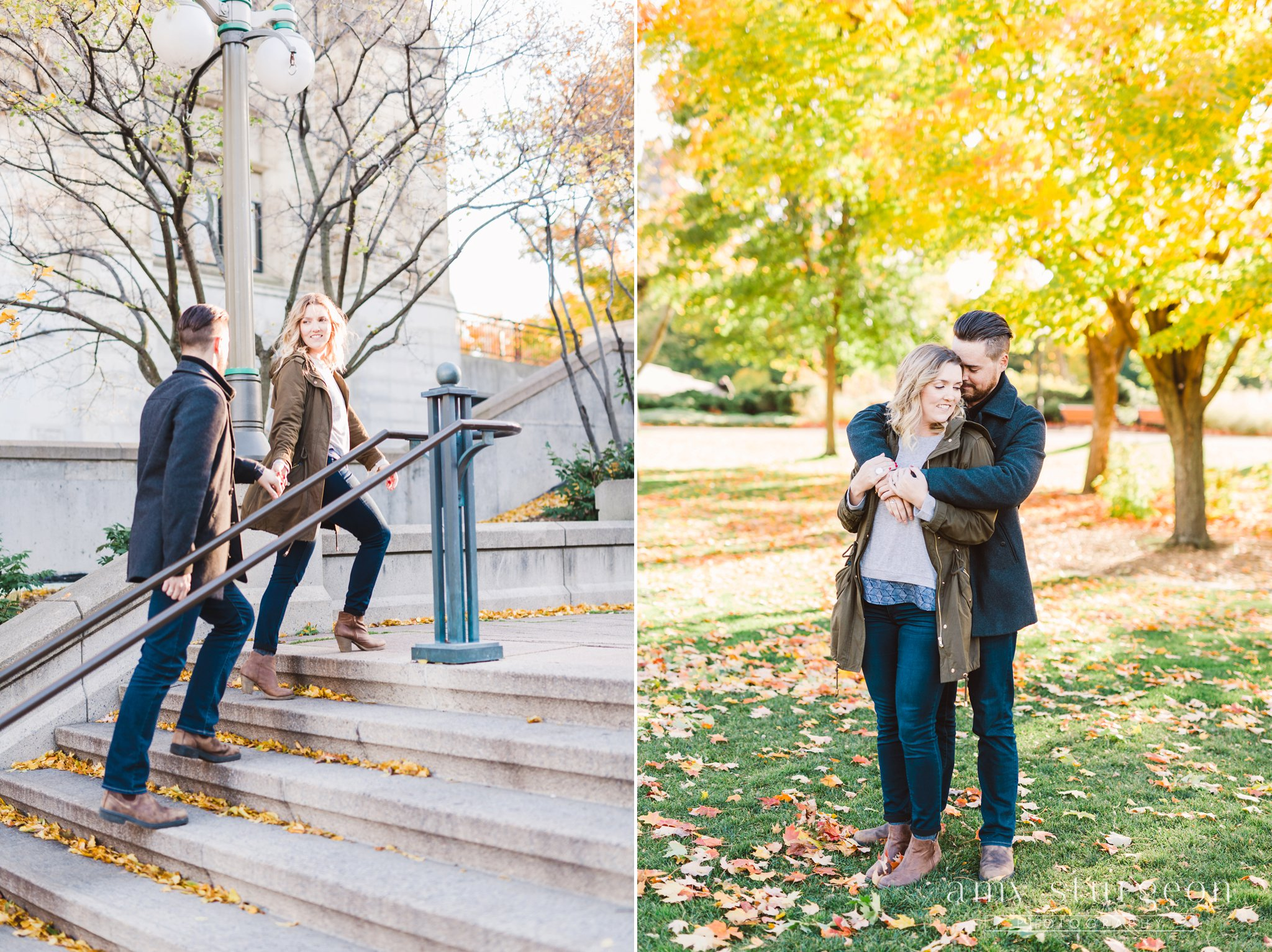 Fall byward market engagement session