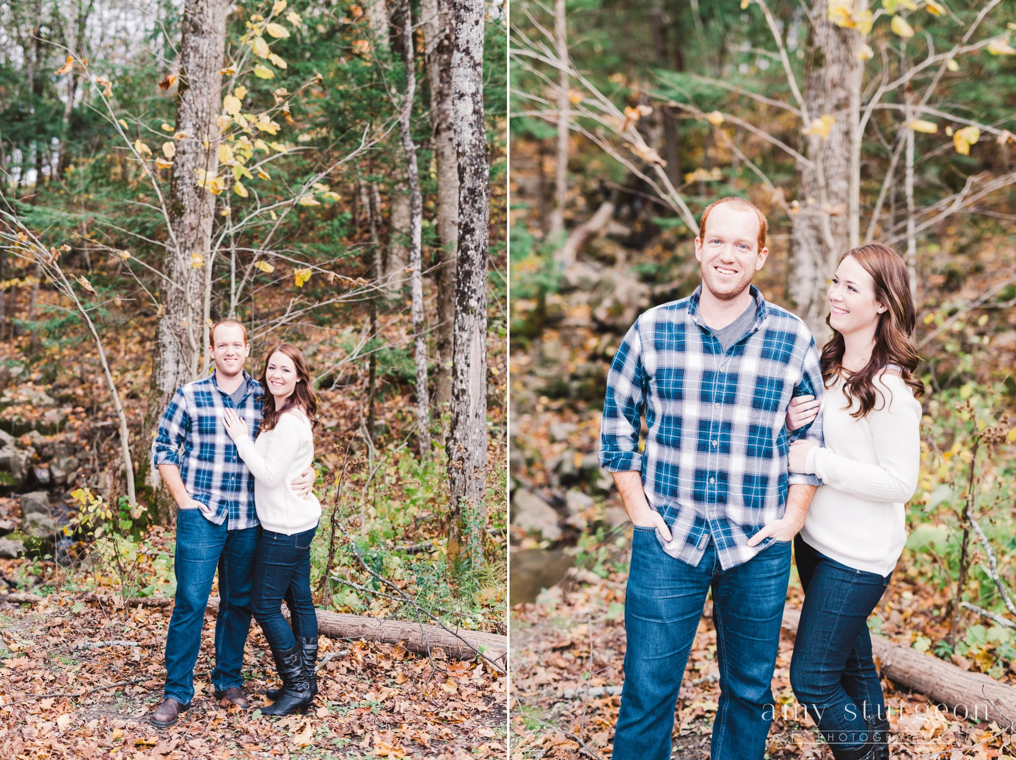 Fall Wakefield Engagement Session with plaid clothing
