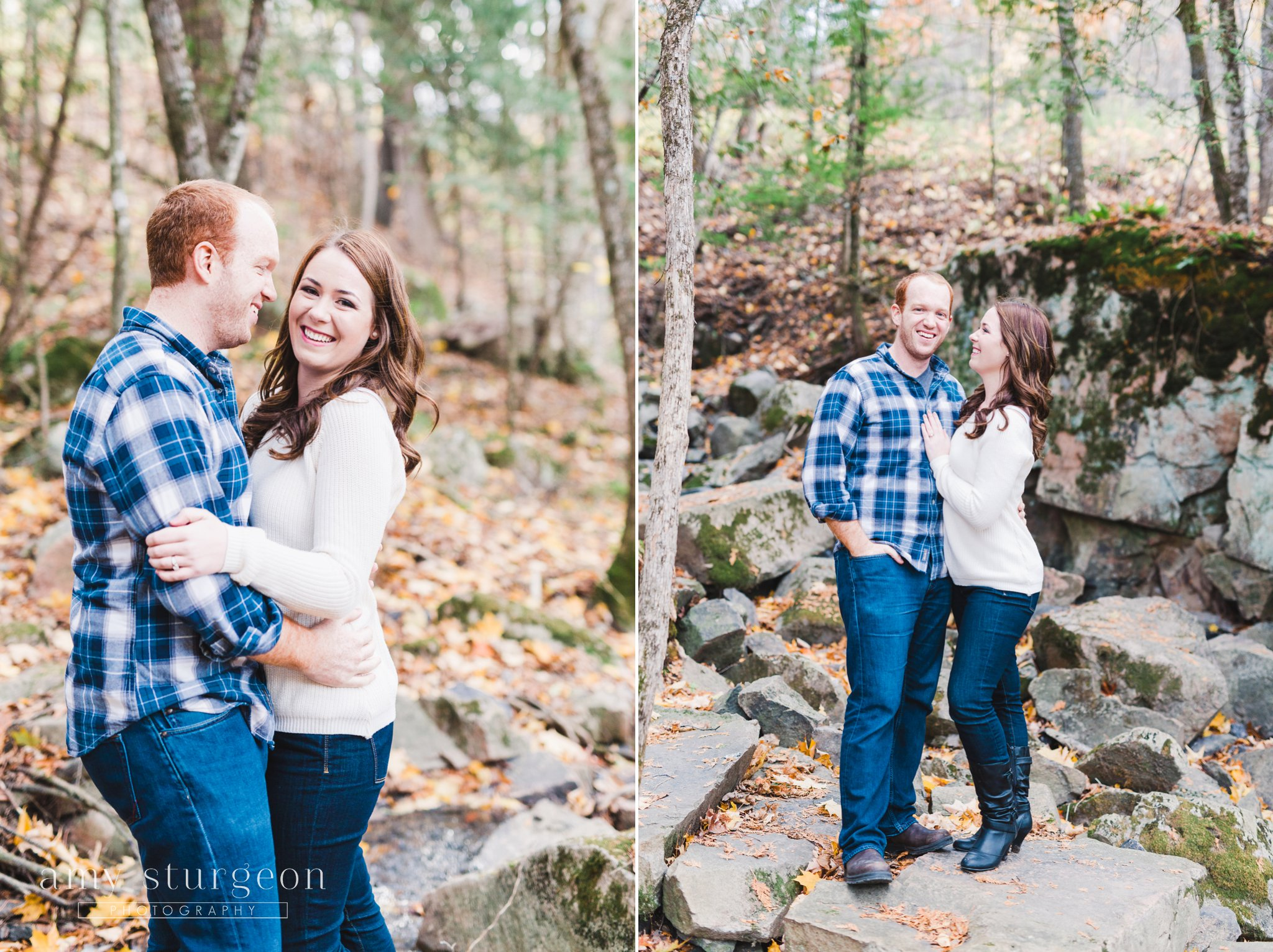 Ottawa and Wakefield Engagement Photos by the covered bridge
