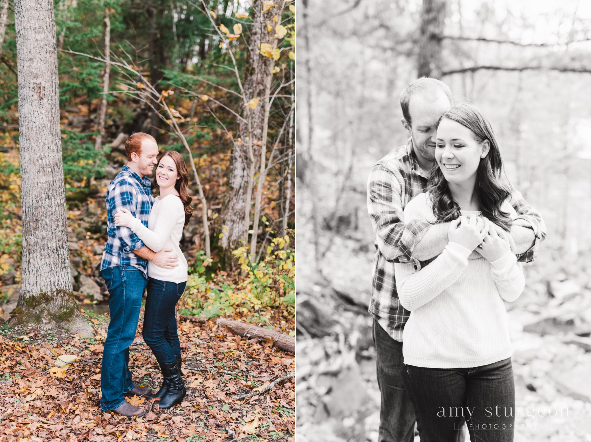 Fall Wakefield Engagement Session by the covered bridge