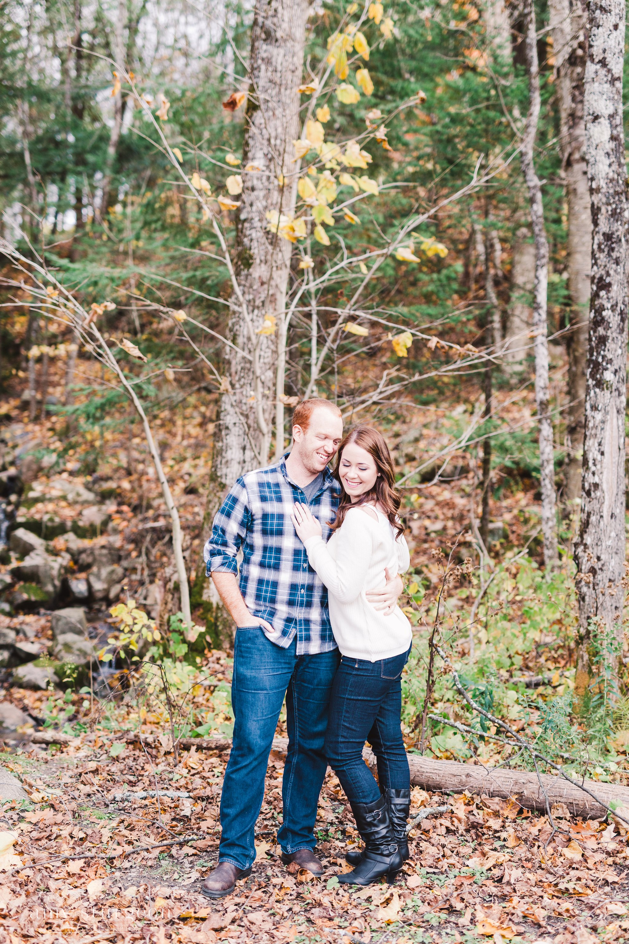 Fall Wakefield Engagement Session by the covered bridge by Amy Sturgeon Photography