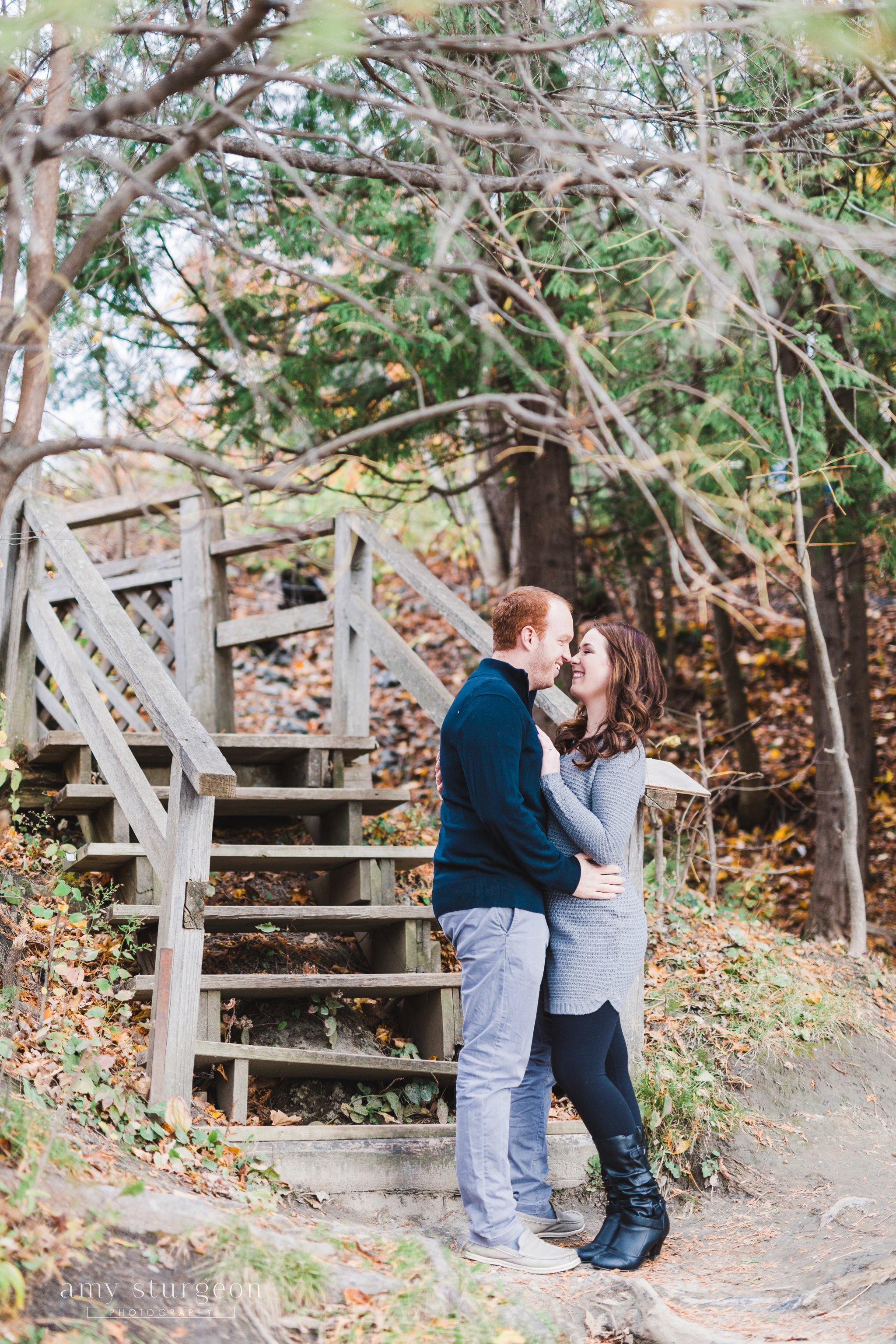Where he proposed at the Wakefield Engagement Session by the covered bridge