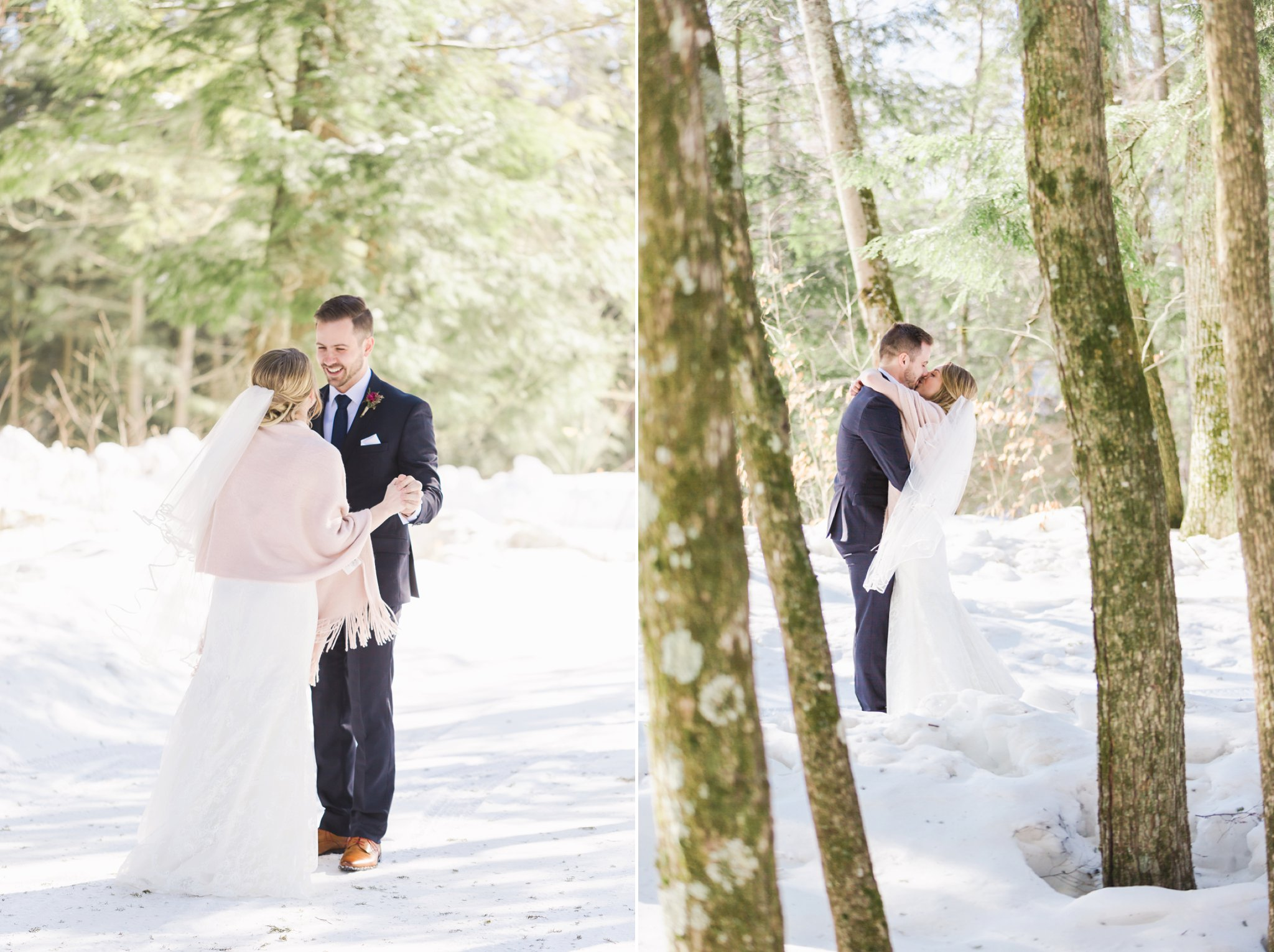 The first look at the Winter wedding at Le Belvedere