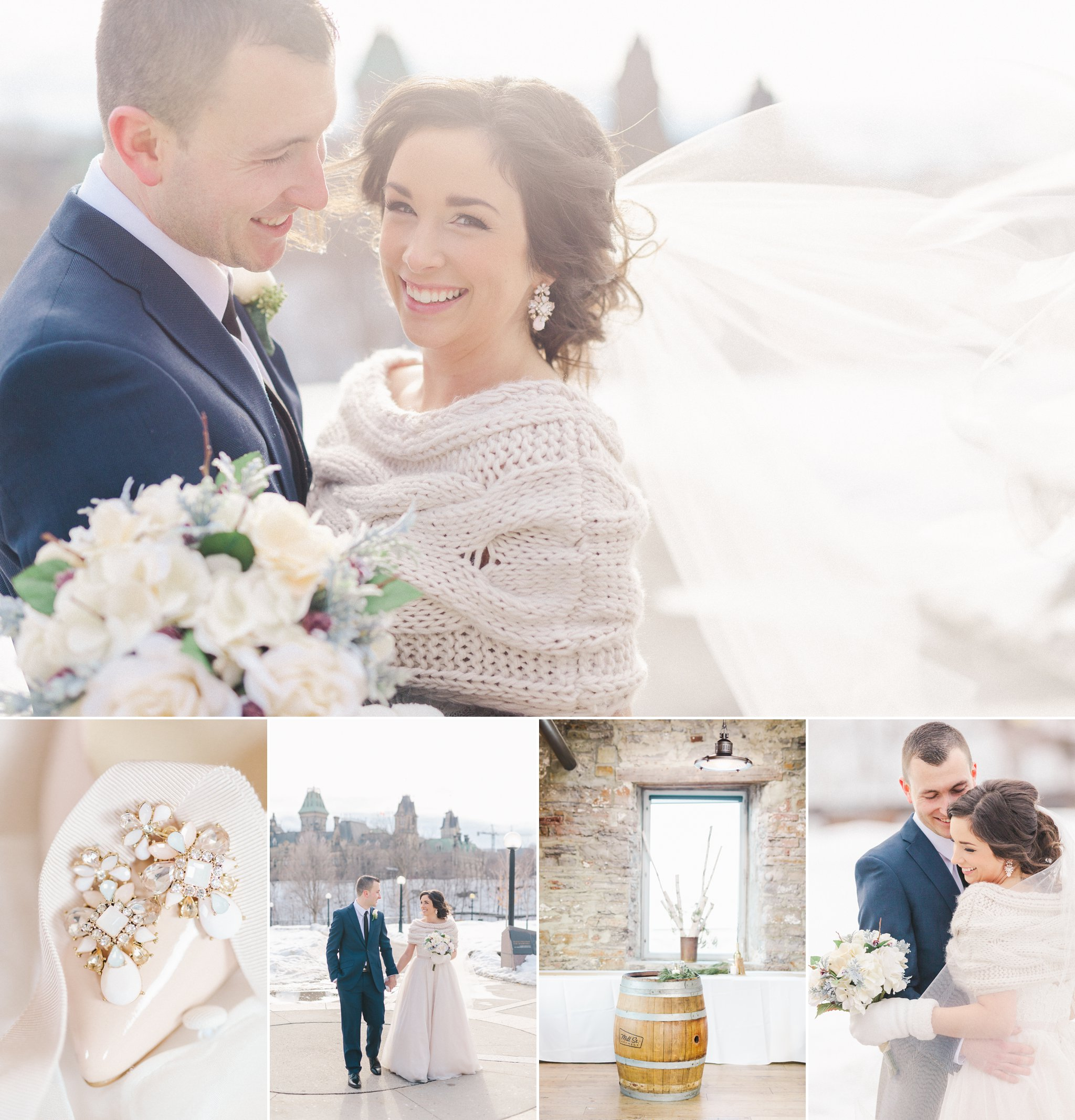 A Winter wedding at the Mill street Brew Pub wedding in Ottawa,