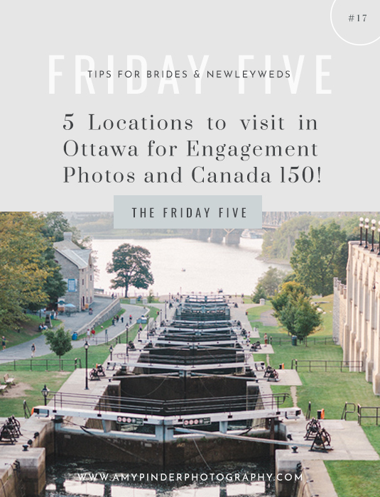 Places to visit for Canada 150 engagement locations - Friday Five - Amy Pinder Photography