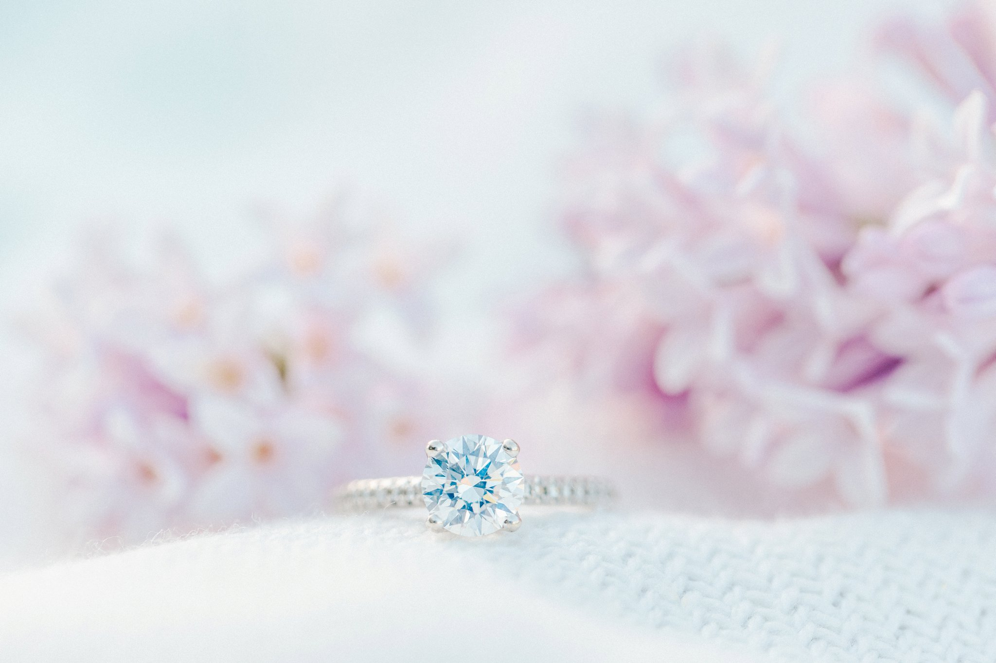Solitaire diamond ring, Blush tulle skirt, teal bicycle, bicycle engagement photos in the arboretum, One Fine Beauty, Showpony Hair, Amy Pinder Photography