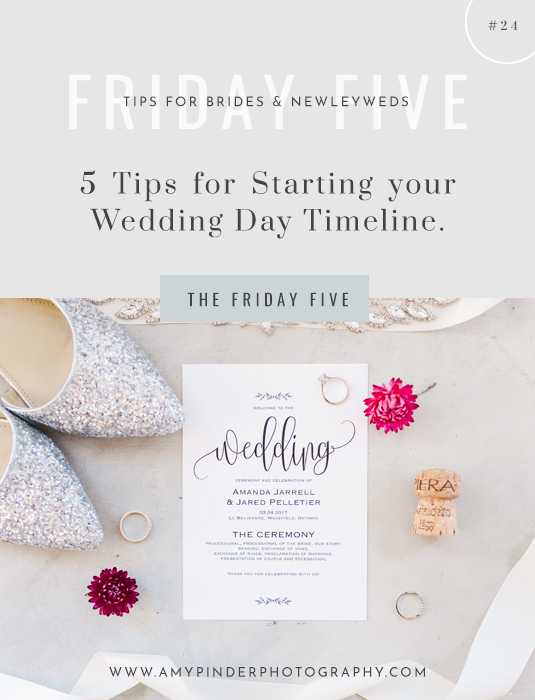 5 tips for starting wedding day timeline the friday five specifically 5 tips for starting your wedding day timeline and how to begin when you are creating this timeline on your own junglespirit Gallery