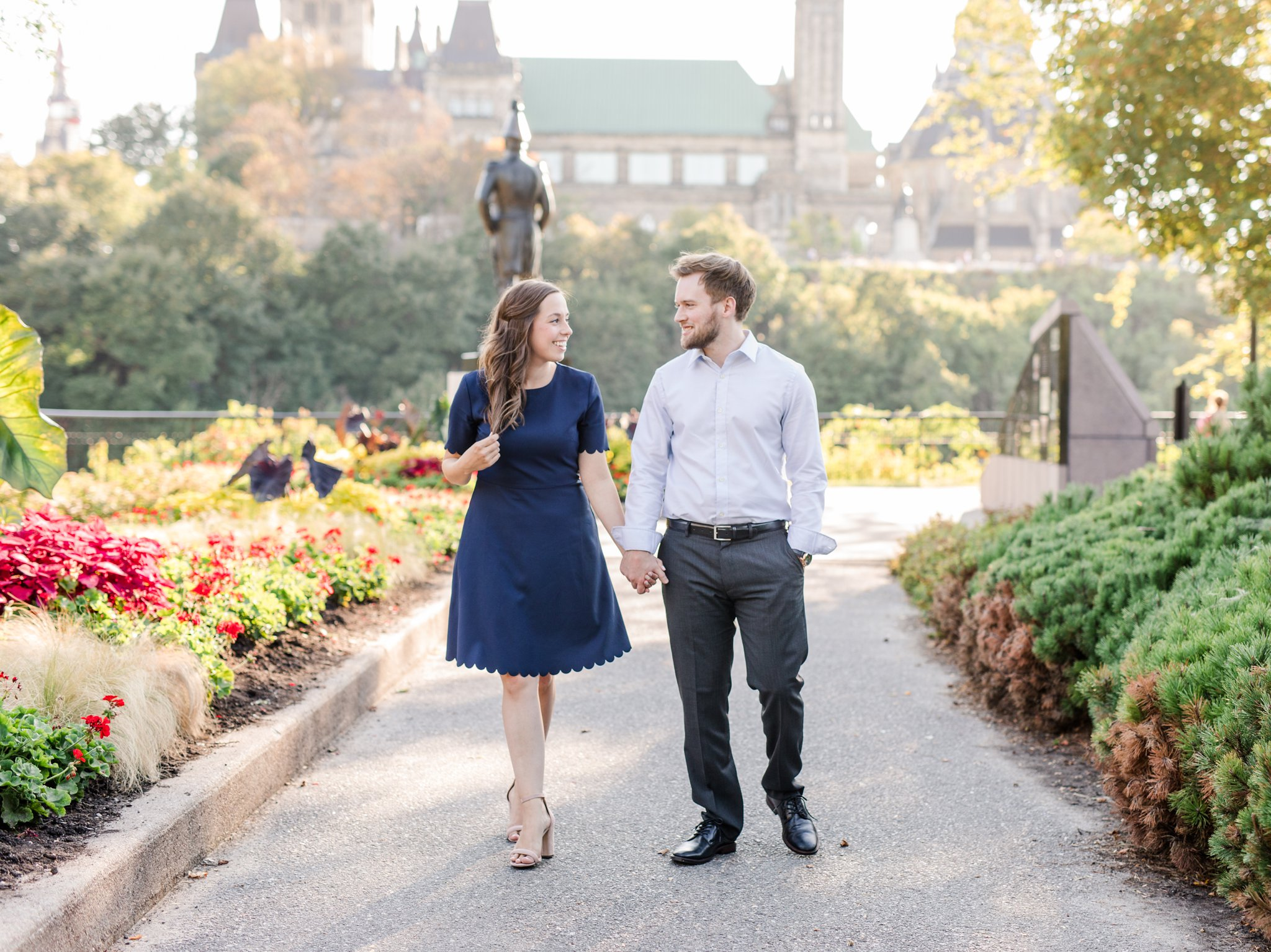 Major's Hill engagement photos at Rideau Canal