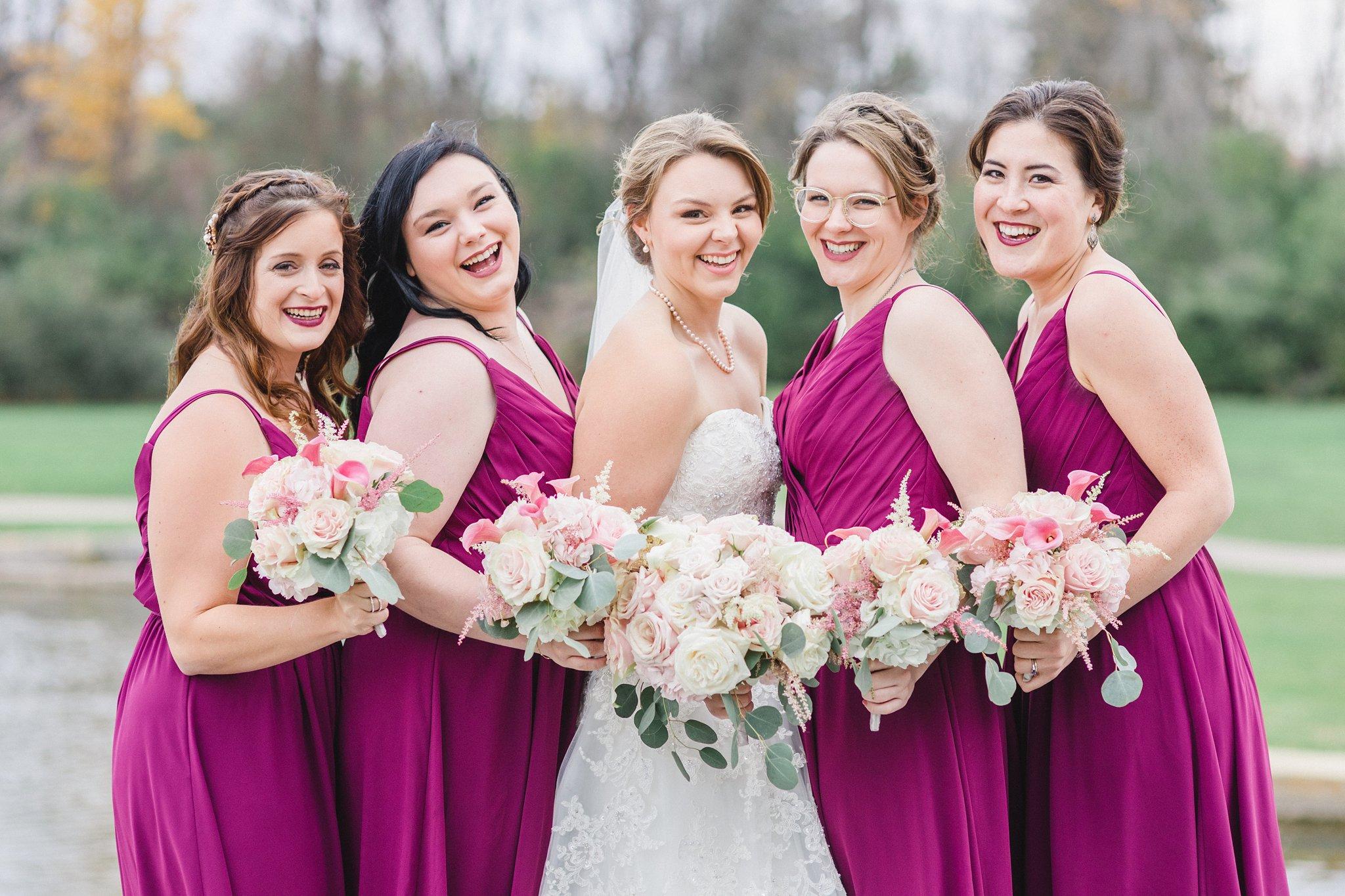 Fuchsia and blush club de golf gatineau wedding amy pinder a dark lip colour to match their fuchsia bridesmaid dresses looking fierce ladies ombrellifo Choice Image