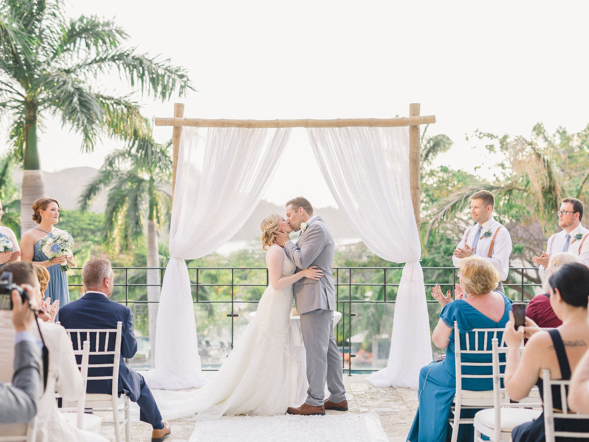 First Kiss Ceremony Costa Rica Destination Wedding Guanacaste Dreams Resort