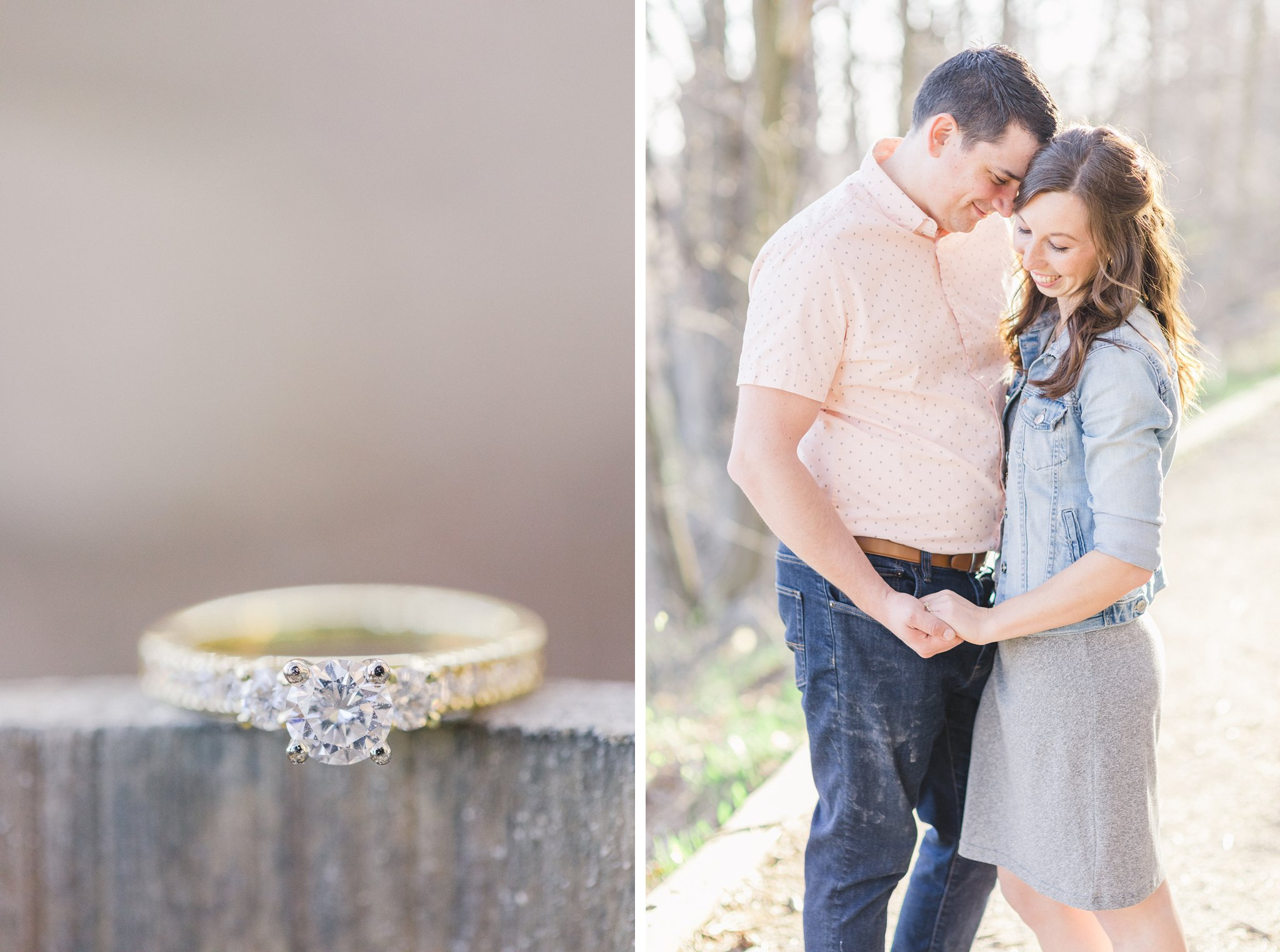 Mer Bleue Boardwalk Engagement Photos Amy Pinder Photography yellow gold ring