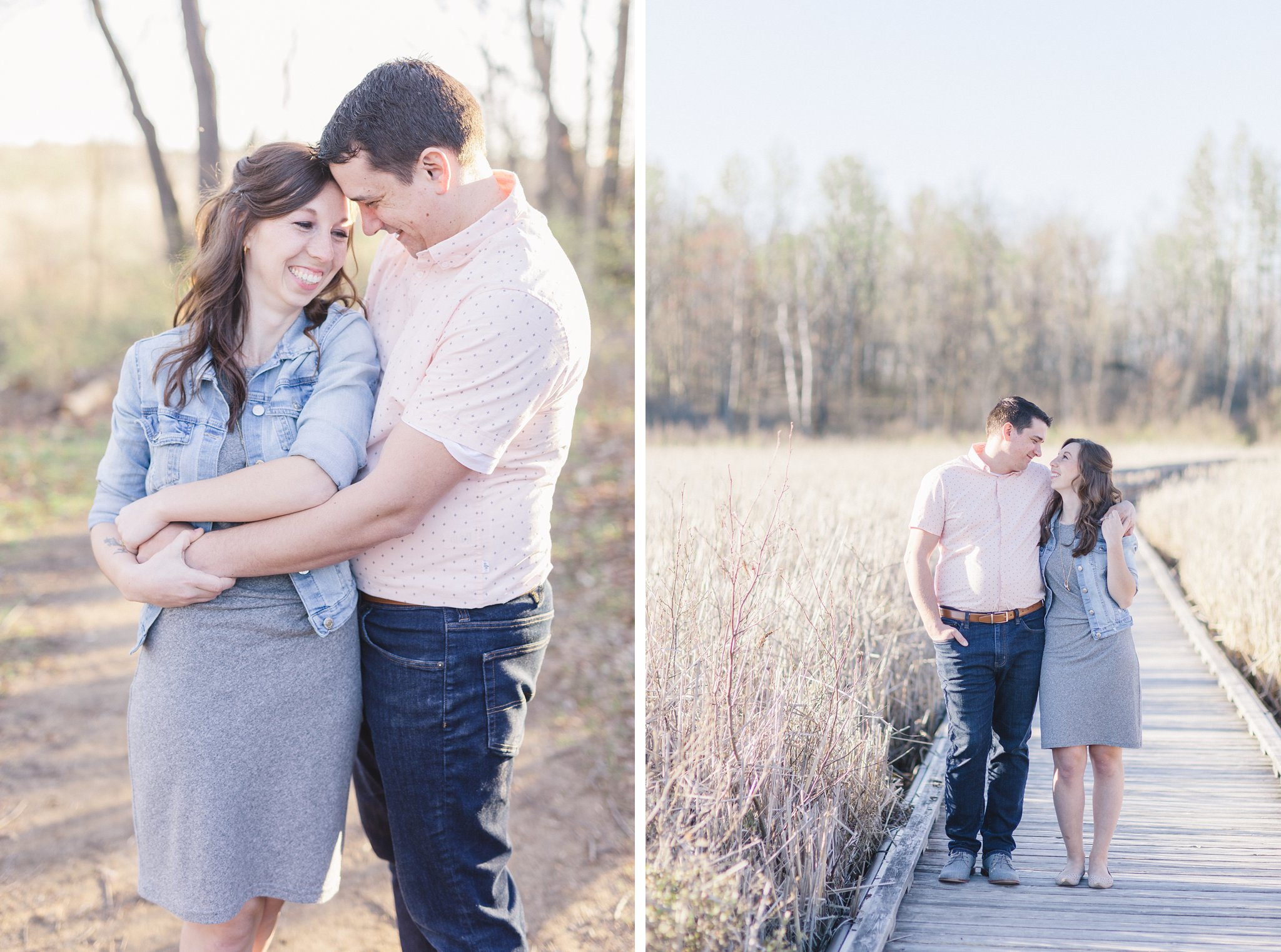 Ottawa Mer Bleue Boardwalk Engagement Photos