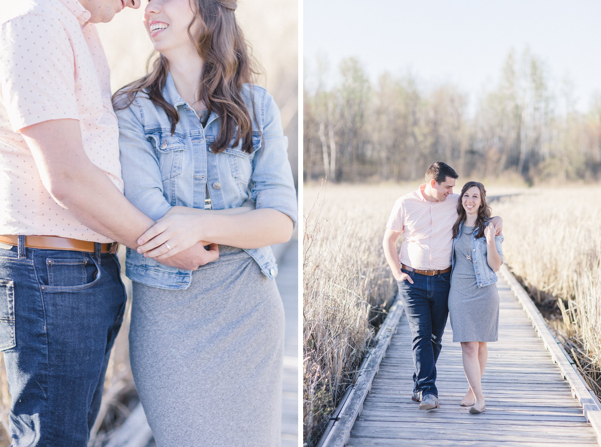 Walk Mer Bleue Boardwalk Engagement Photos Amy Pinder Photography