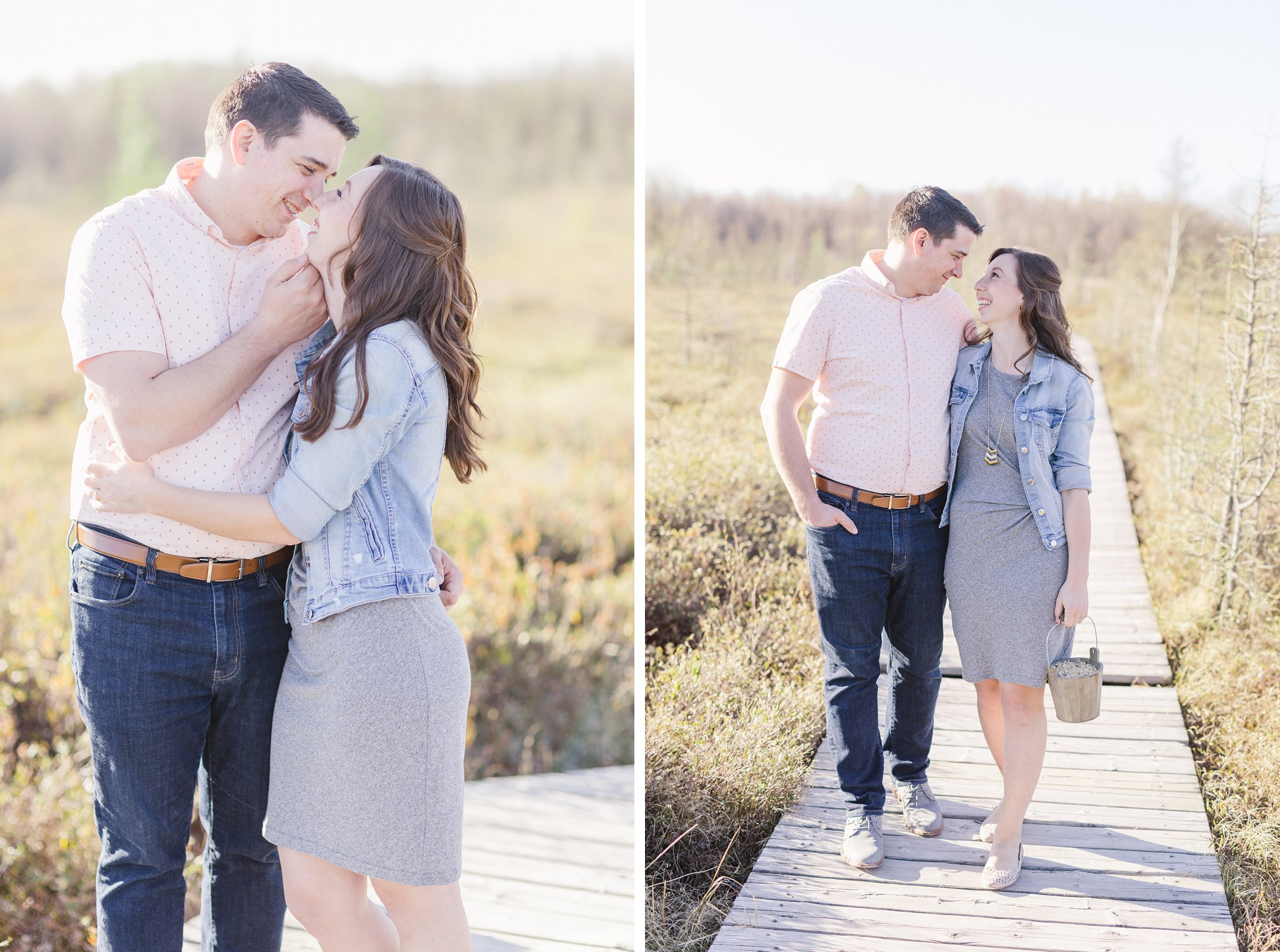 Mer Bleue Boardwalk Engagement Photos