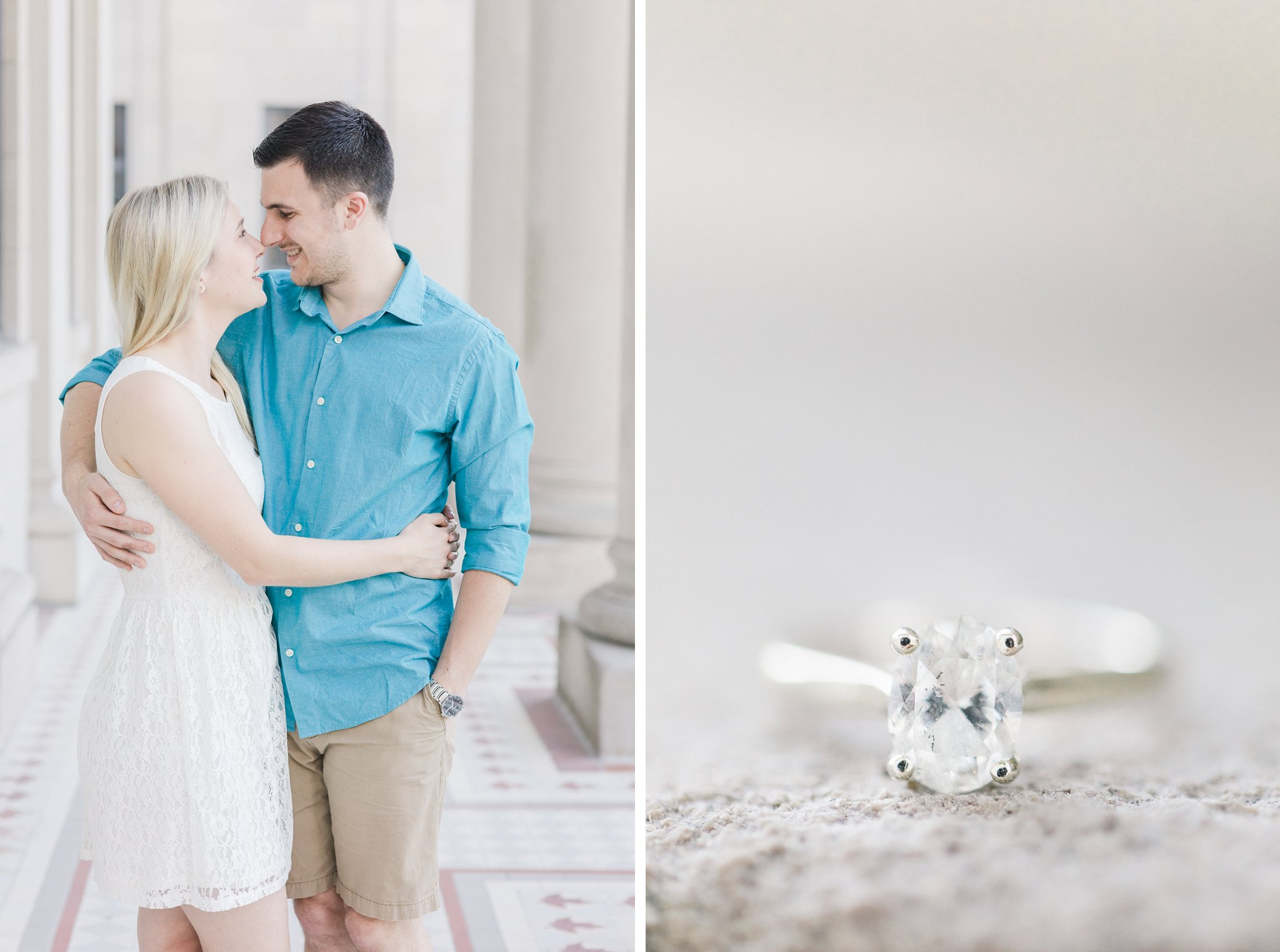 White gold engagement ring oval diamond Ottawa University engagement photos