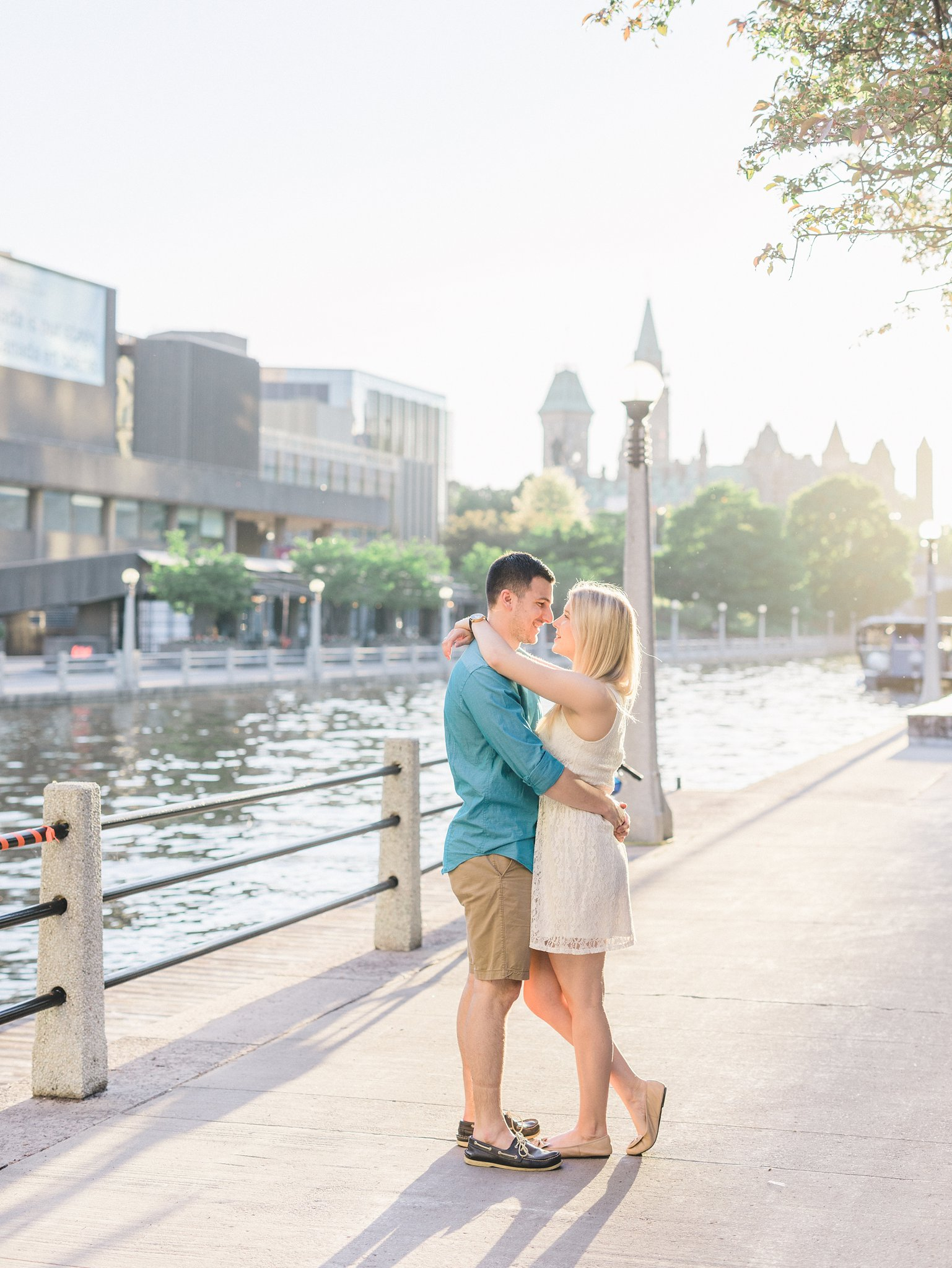 Sunset view of parliament Ottawa University engagement photos