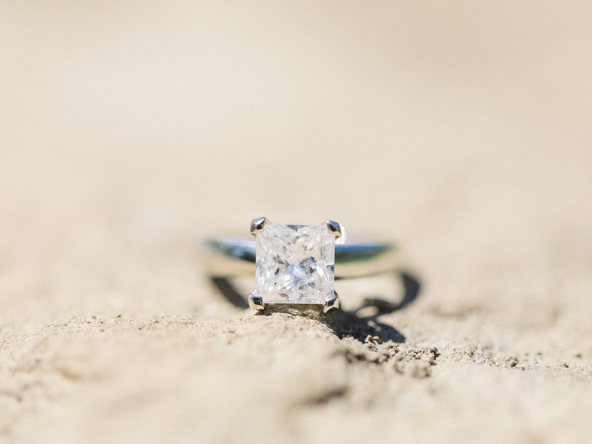 Princess cut diamond ring surprise proposal photos on boardwalk South March Highlands