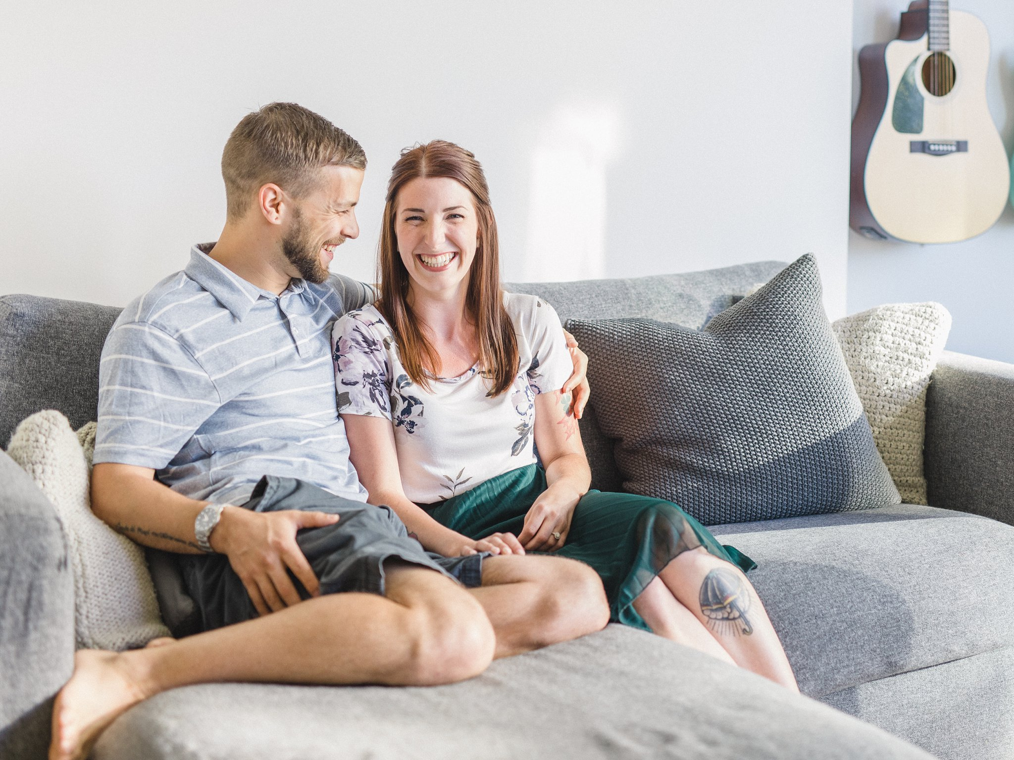 Lifestyle condo engagement photos Hintonburg Ottawa