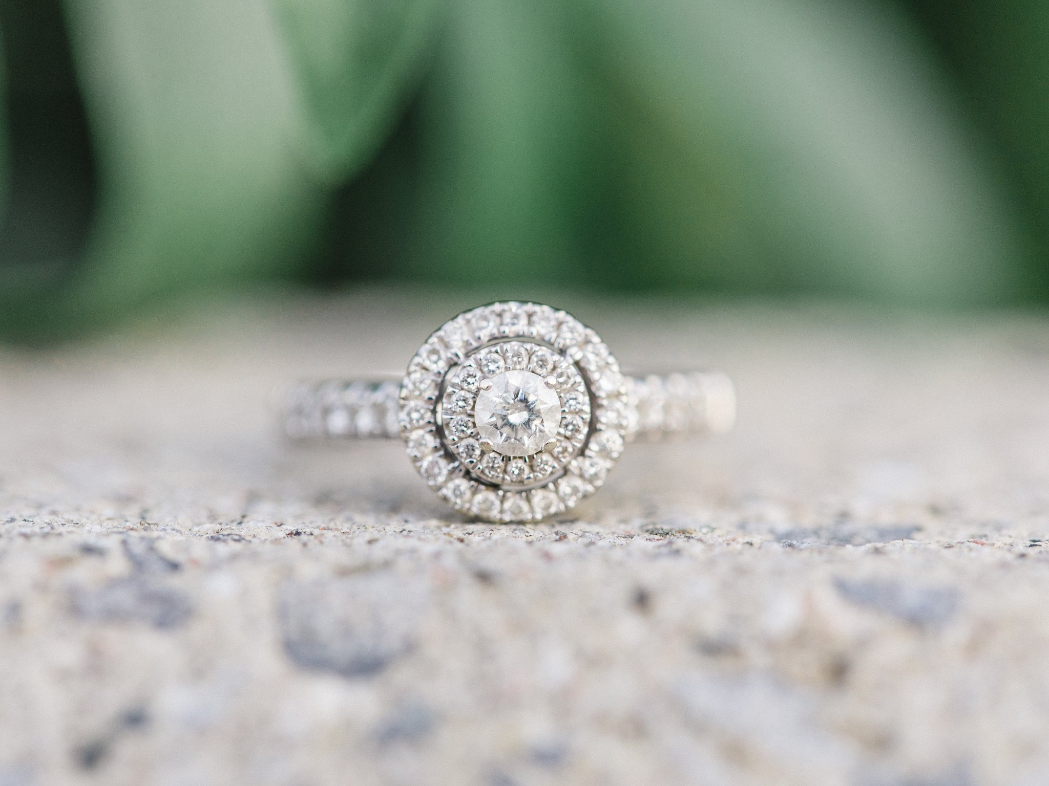 Round diamond double halo engement ring condo engagement photos Hintonburg Ottawa