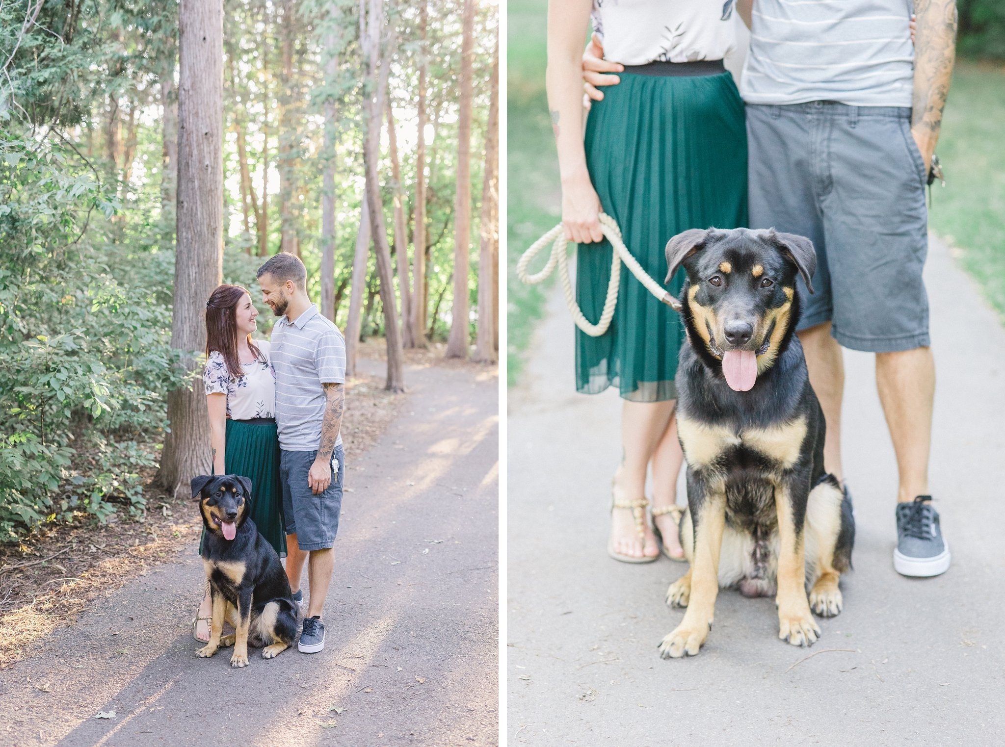 Walking puppy condo engagement photos Hintonburg Ottawa
