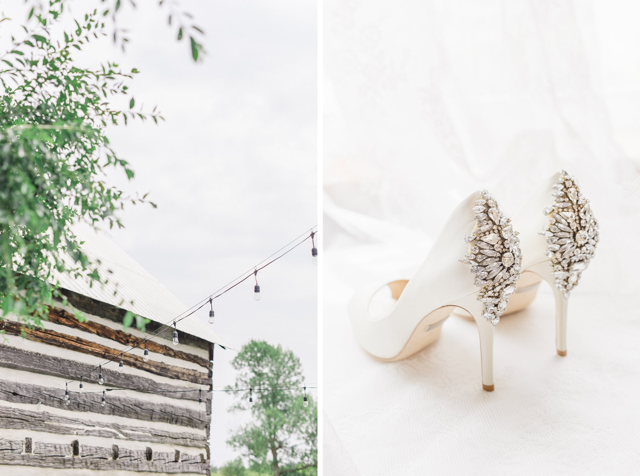 Bride wore badgley mischka shoes when she was married at Stonefields, Amy Pinder Photography