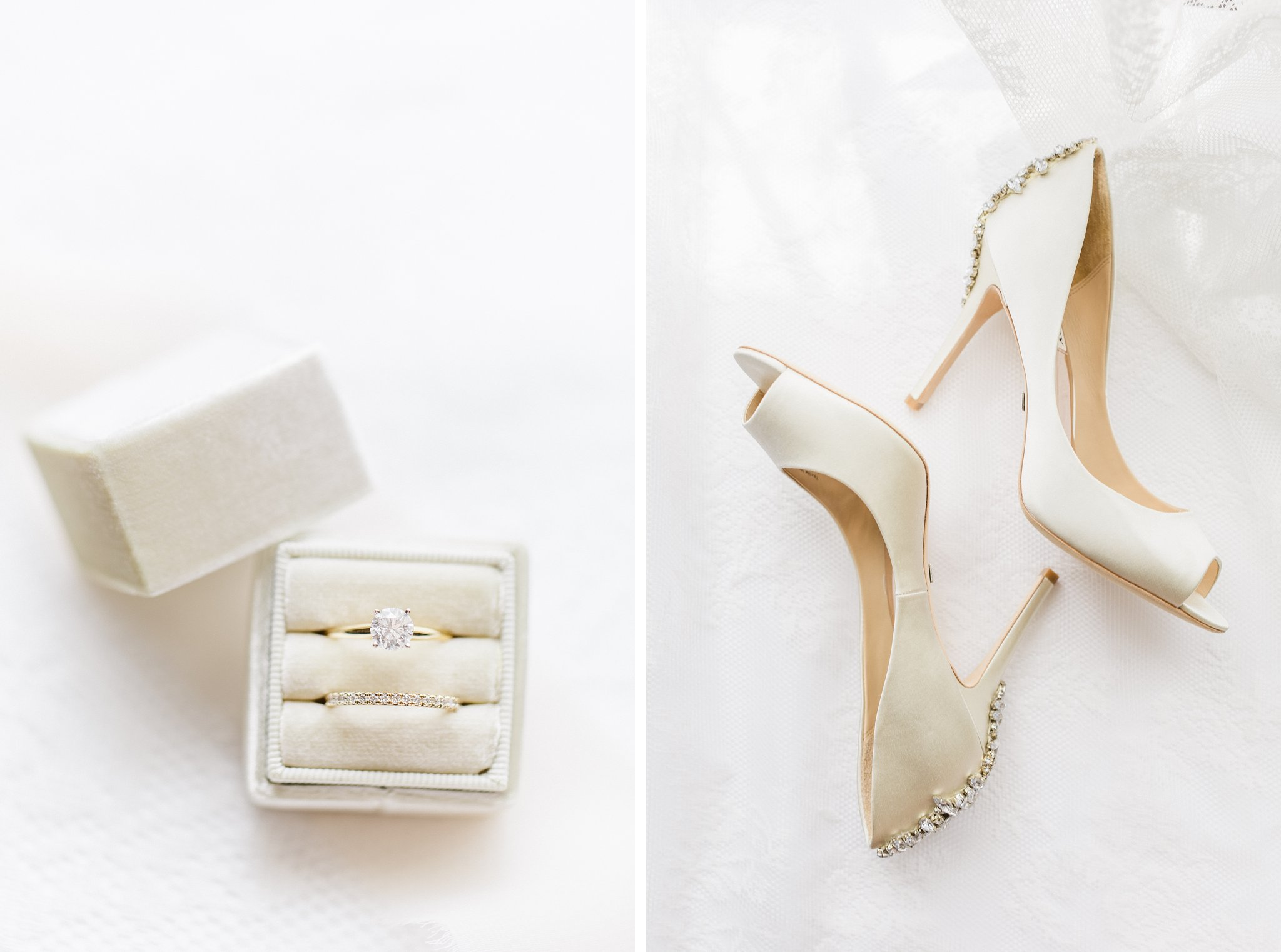 Badgley Mischka bridal heels Mrs. Box married at Stonefields, Amy Pinder Photography