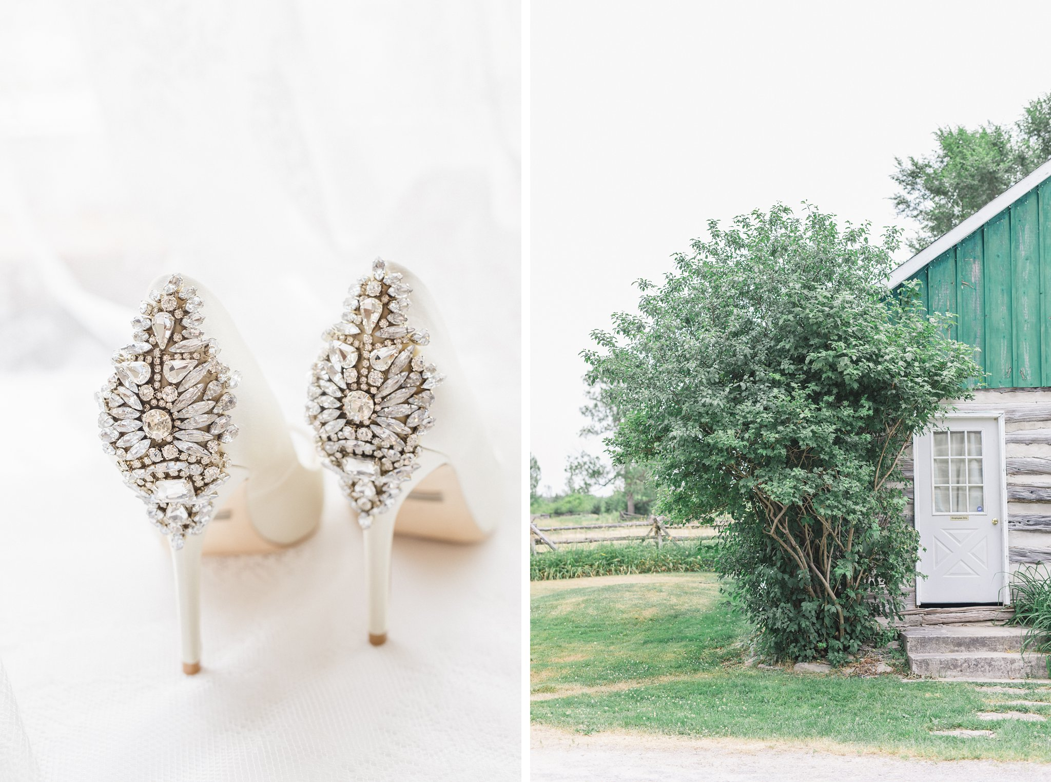 Badgley Mischka bridal heels married at Stonefields, Amy Pinder Photography
