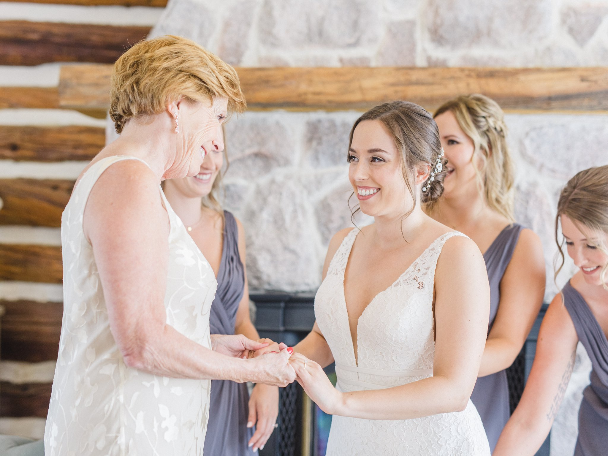 Moment between bride and her mother married at Stonefields, Amy Pinder Photography