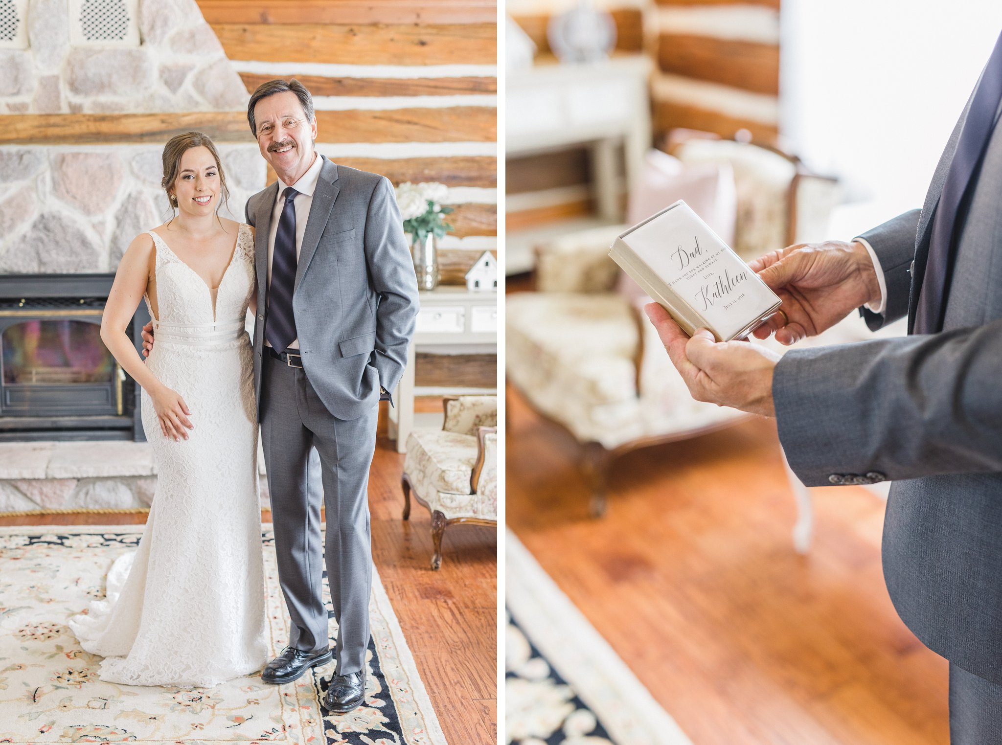 Bride with her father married at Stonefields, Amy Pinder Photography