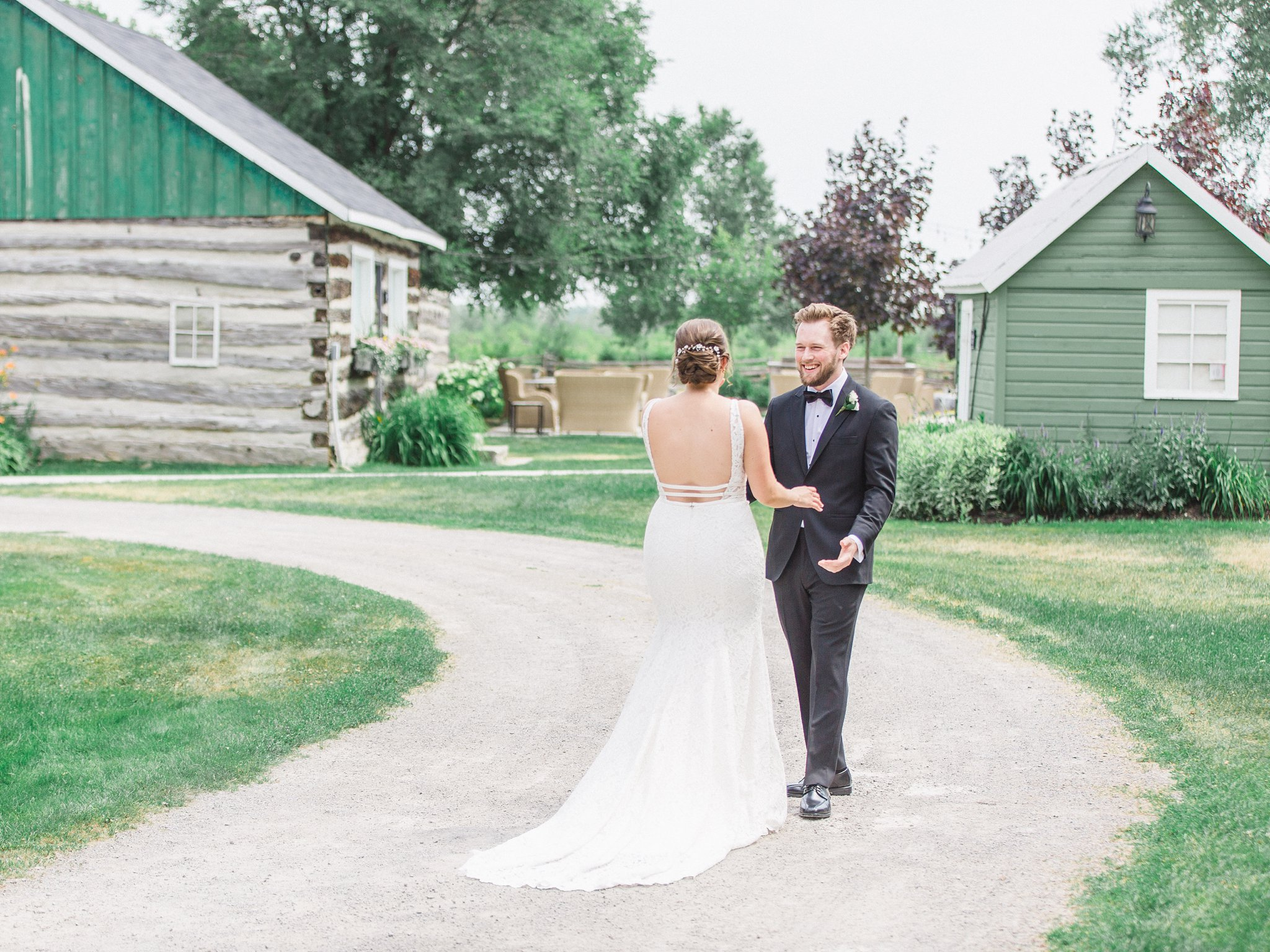 First Look reaction married at Stonefields, Amy Pinder Photography