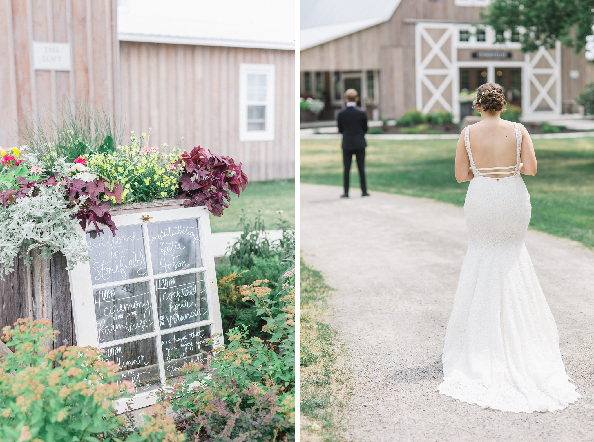 First look married at Stonefields, Amy Pinder Photography