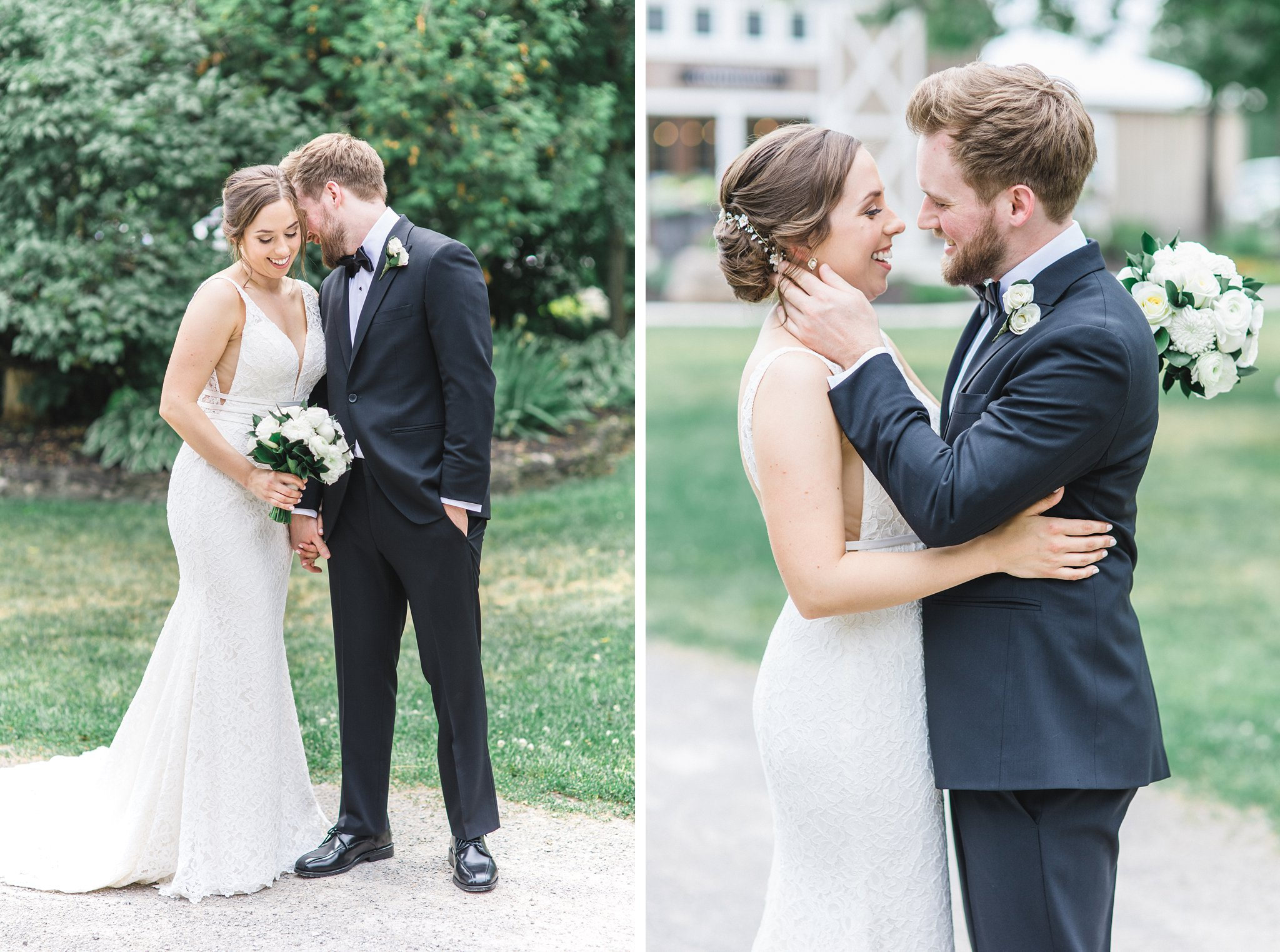 Classic black suit white dress married at Stonefields, Amy Pinder Photography