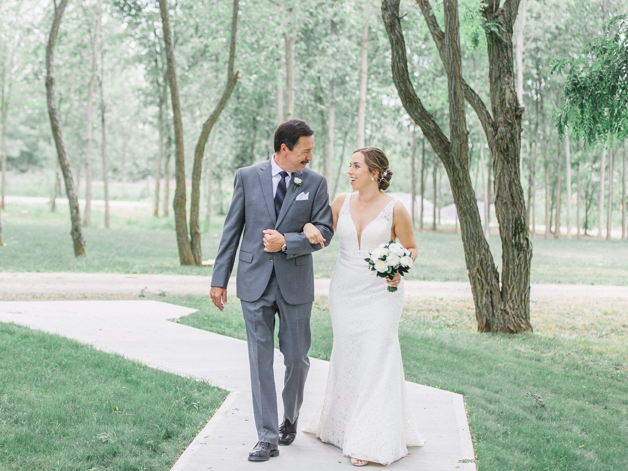 Father walks daughter down the aisle married at Stonefields, Amy Pinder Photography