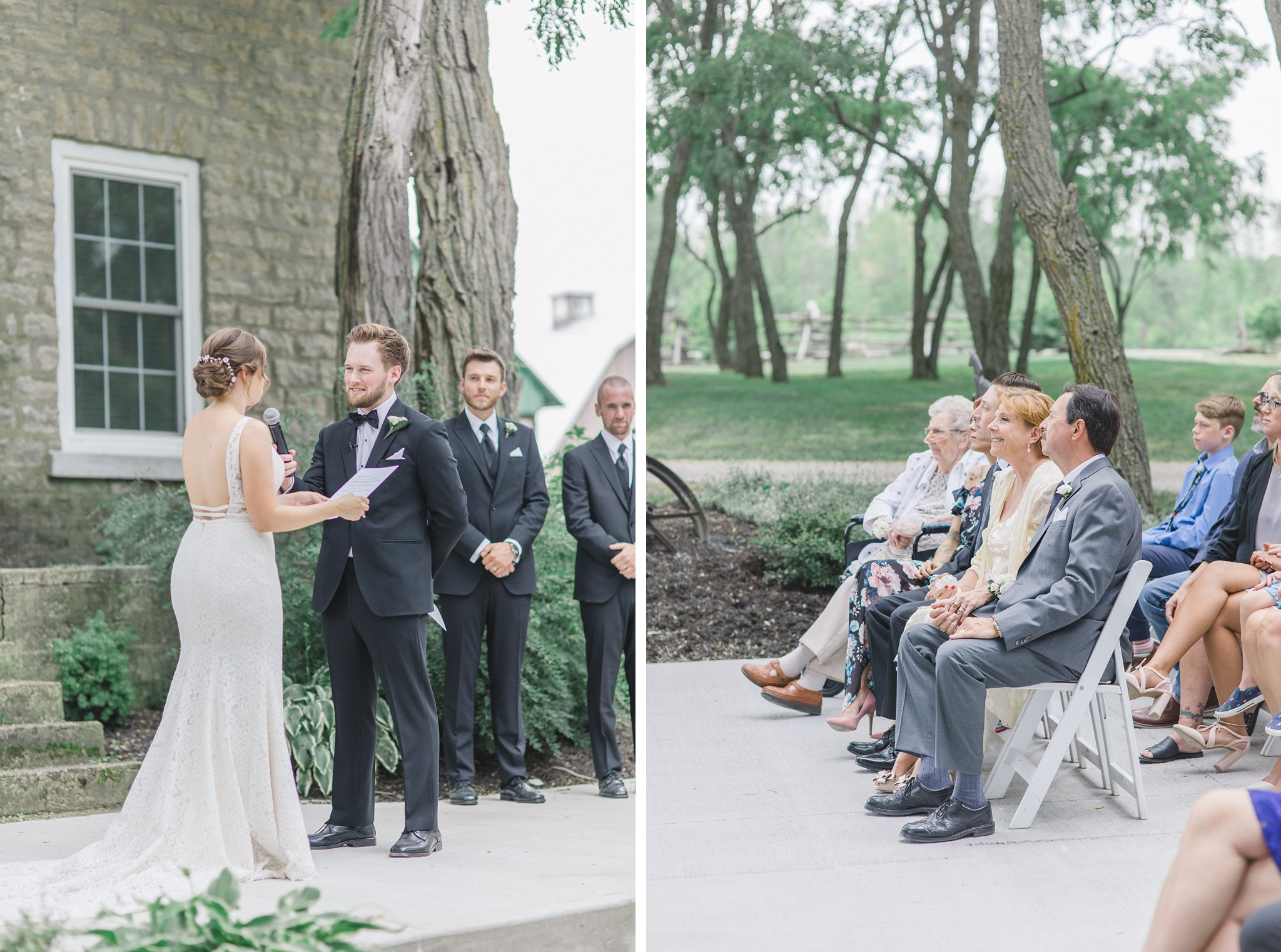 Exchanging vows married at Stonefields, Amy Pinder Photography