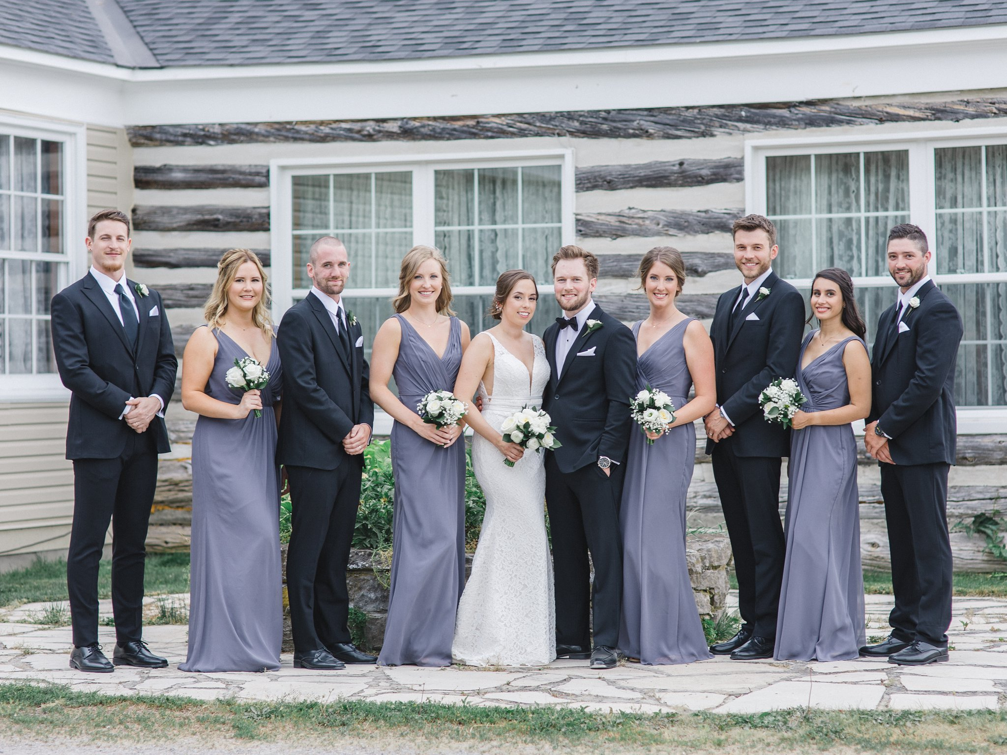 David's Bridal mauve bridesmaid dress married at Stonefields, Amy Pinder Photography