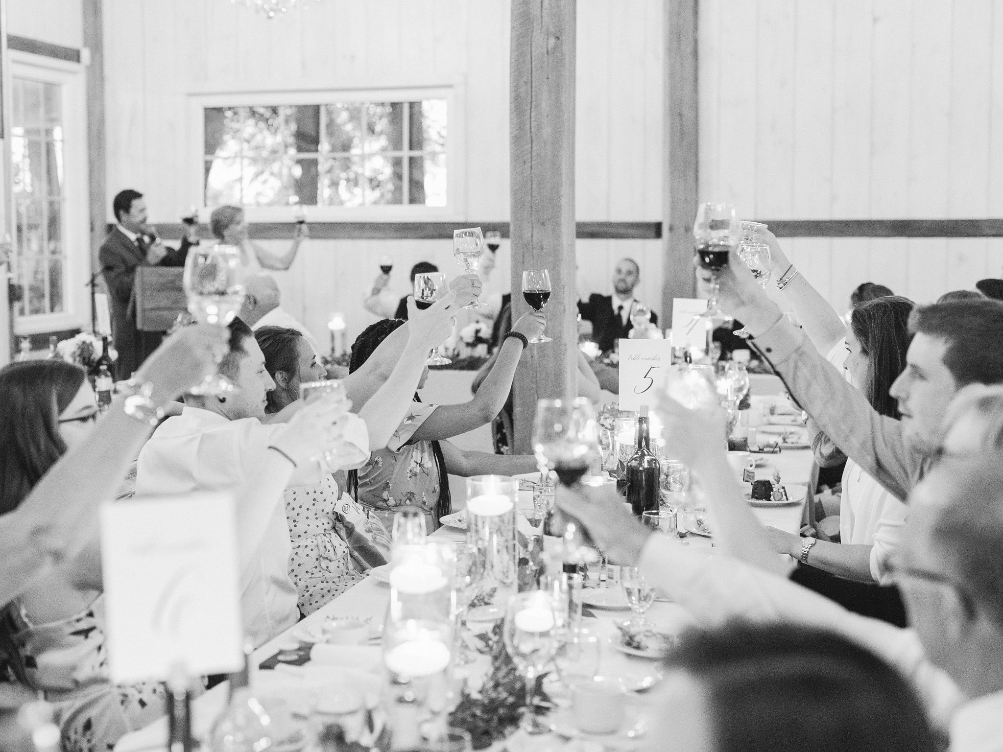 Toast in black and white married at Stonefields, Amy Pinder Photography