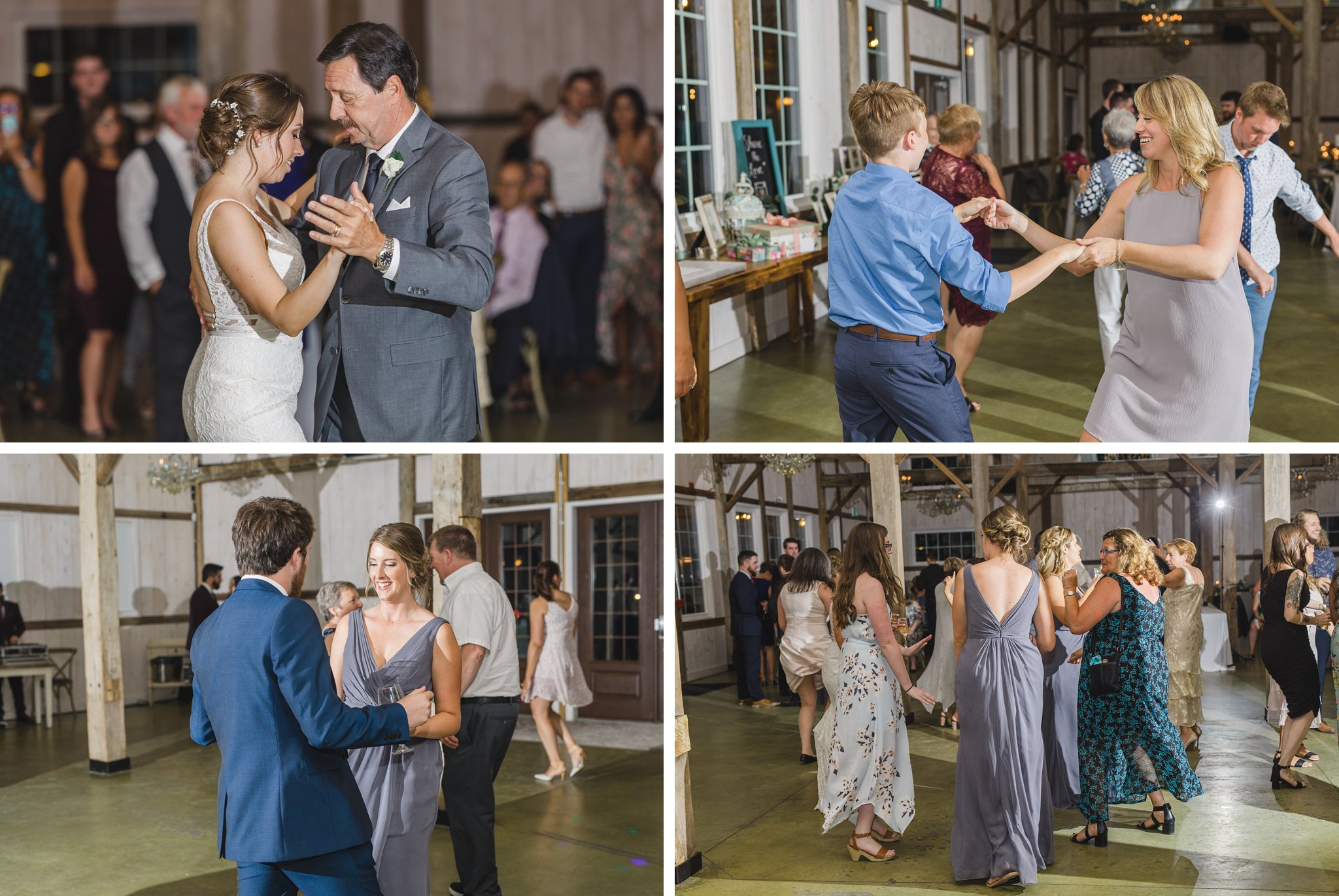 Party dancing at reception married at Stonefields, Amy Pinder Photography