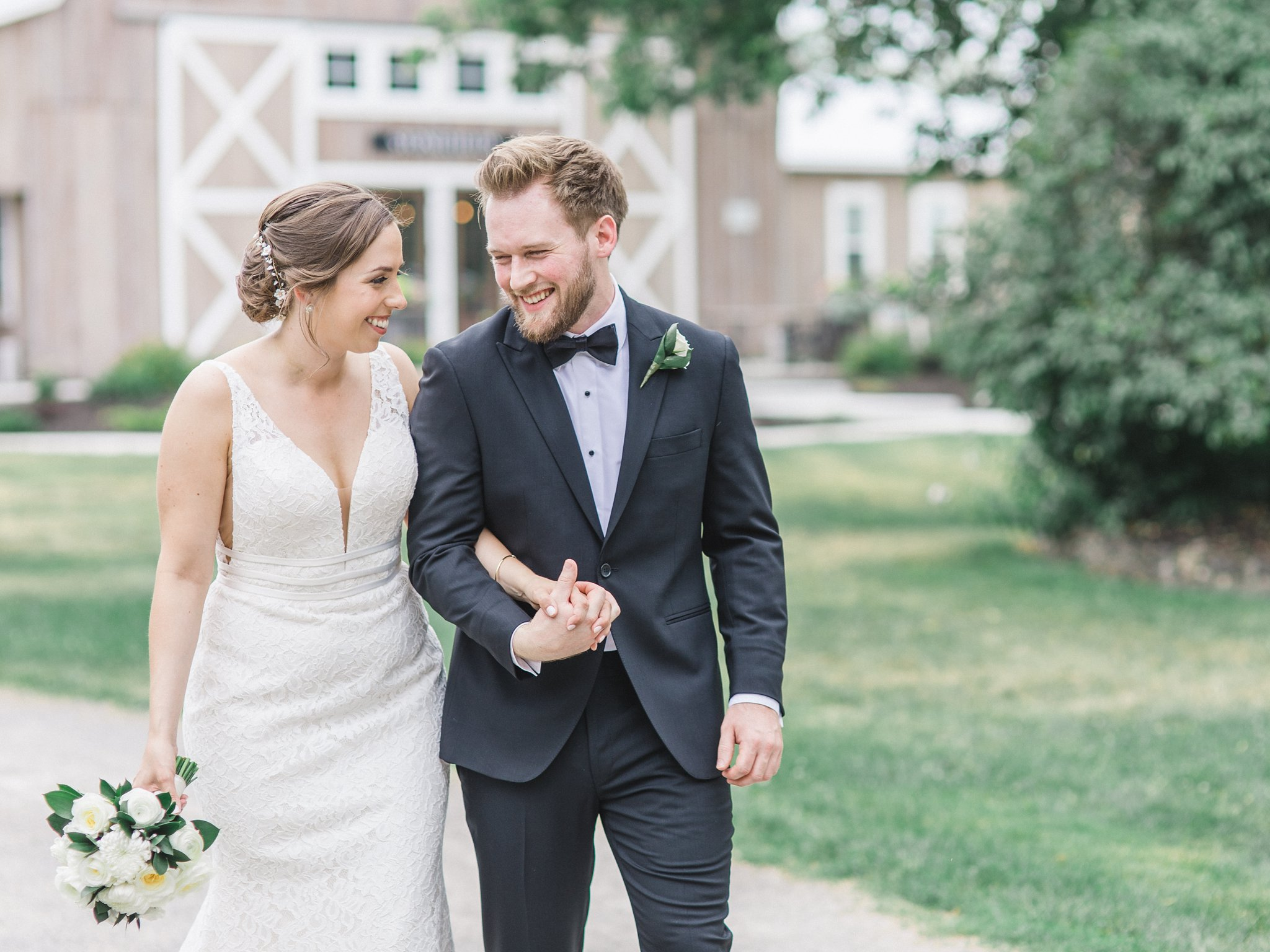 Classic wedding look in black tie and wedding dress married at Stonefields, Amy Pinder Photography