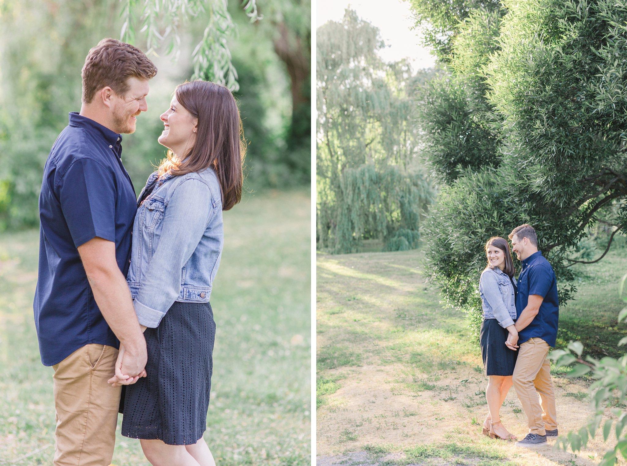Engagement photos at Ottawa Arboretum Amy Pinder Photography