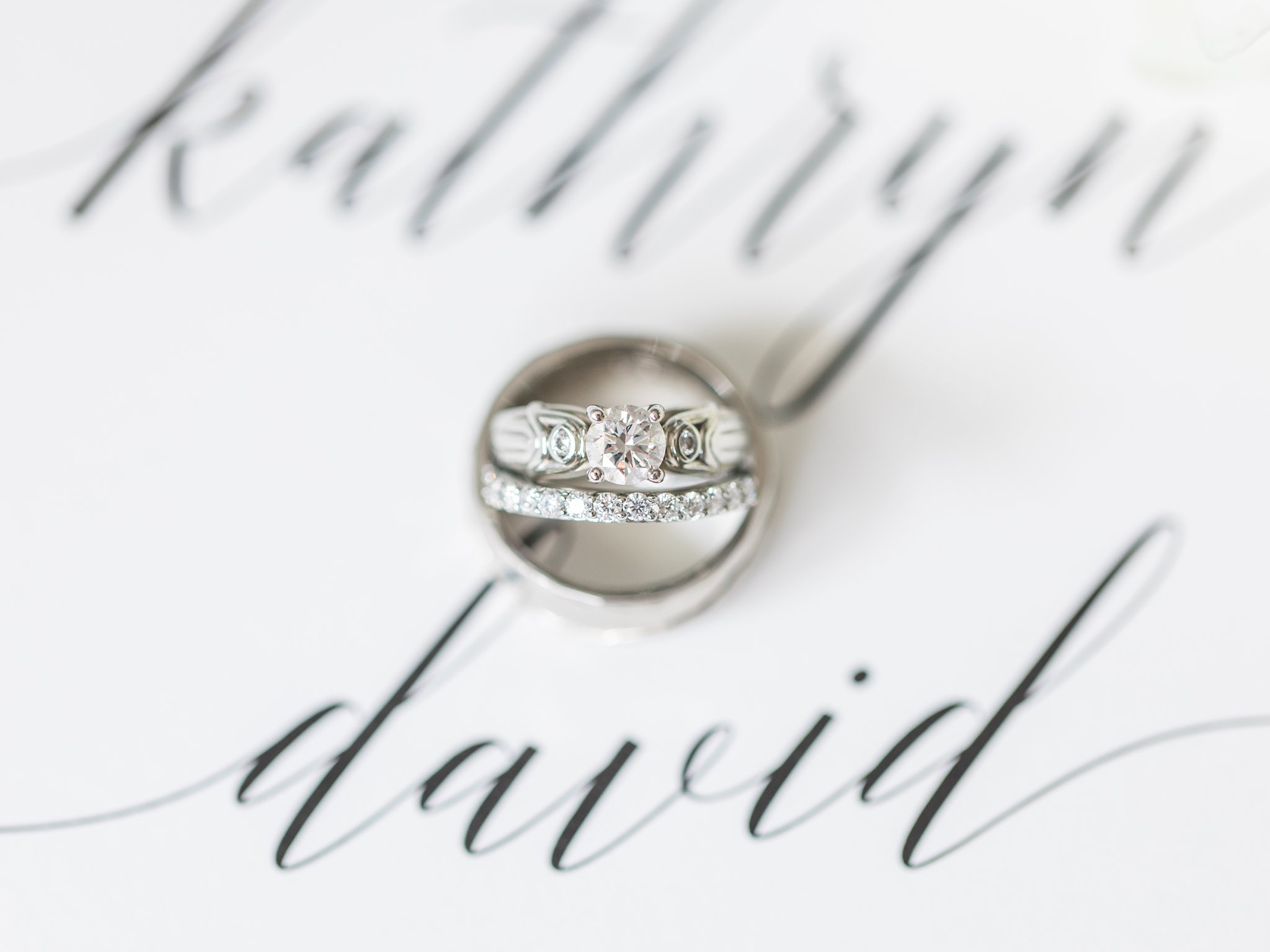 Custom engagement ring with engravings PBR Designs Horticulture Building wedding at Lansdowne Amy Pinder Photography