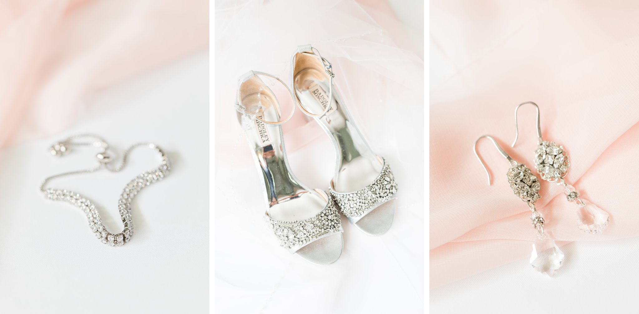 Silver Badgely Miscka shoes Sarah Walsh earrings Horticulture Building wedding at Lansdowne Amy Pinder Photography